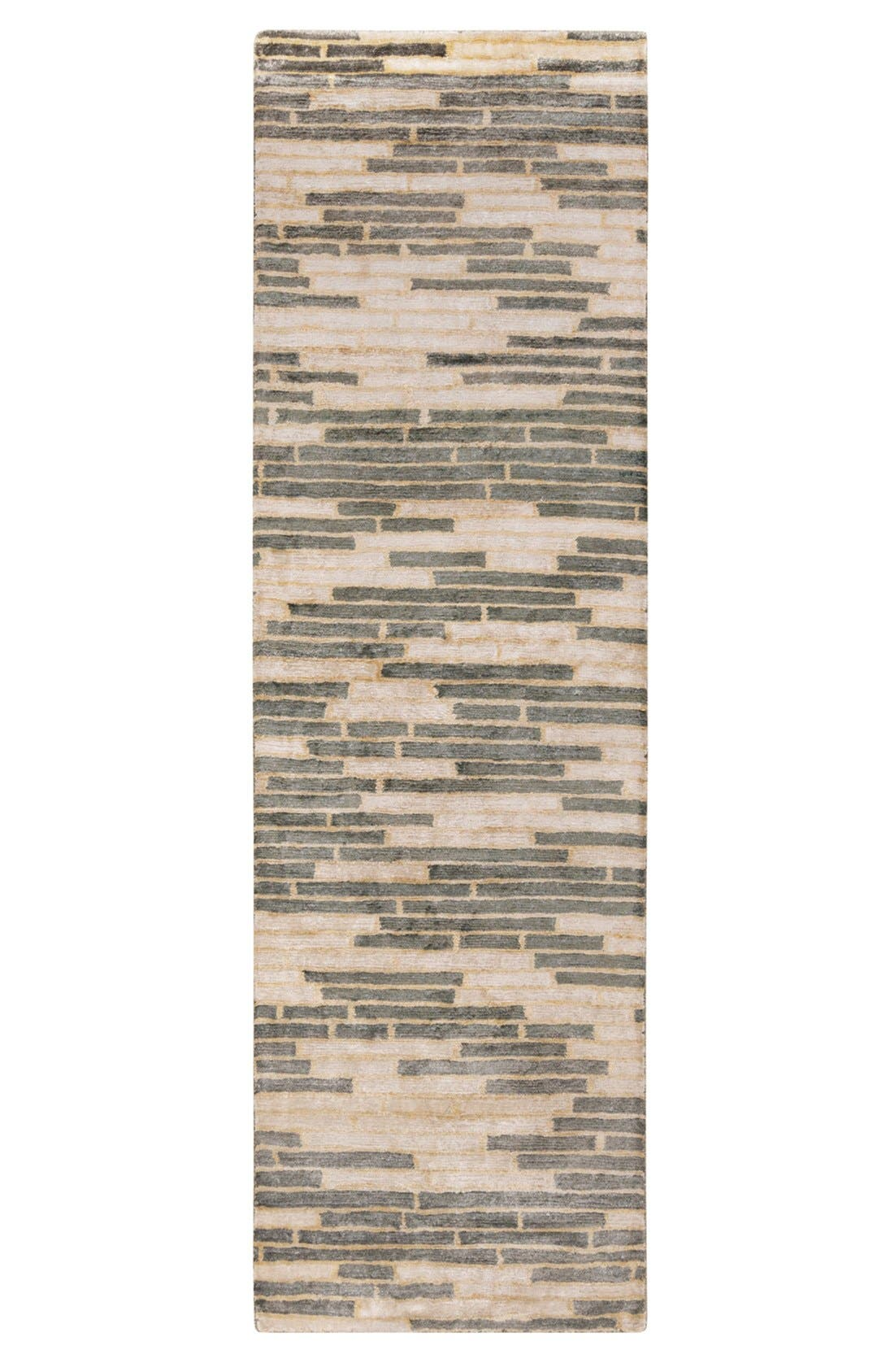 'Platinum' Hand Tufted Rug,                             Alternate thumbnail 2, color,                             CHARCOAL/ BEIGE/ IVORY