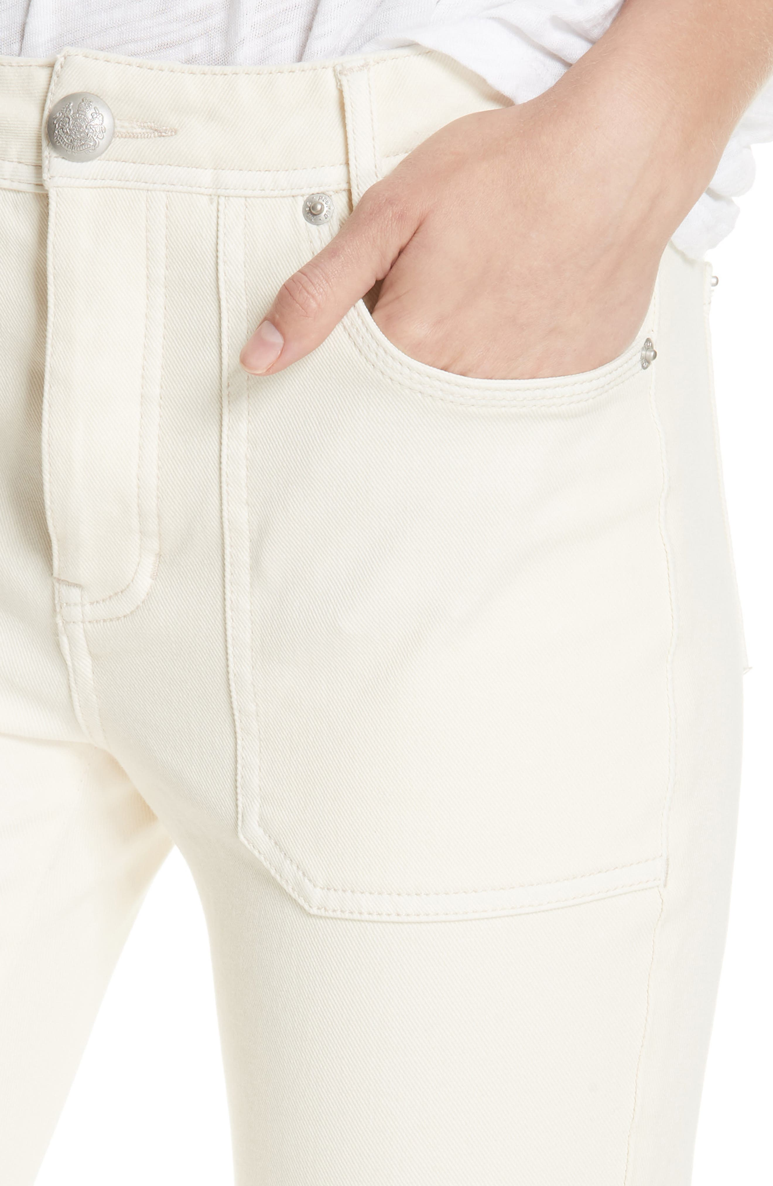 Utility Skinny Jeans,                             Alternate thumbnail 4, color,                             NEUTRAL