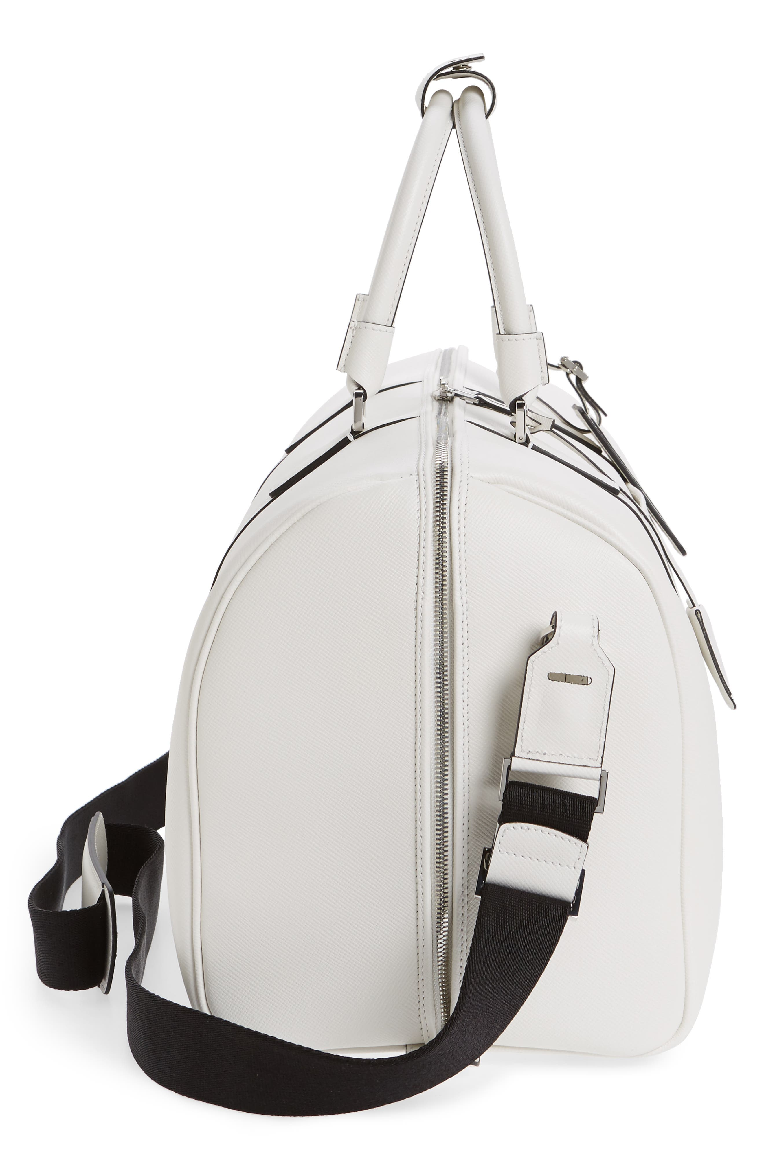 Small Evolution Leather Duffel Bag,                             Alternate thumbnail 18, color,