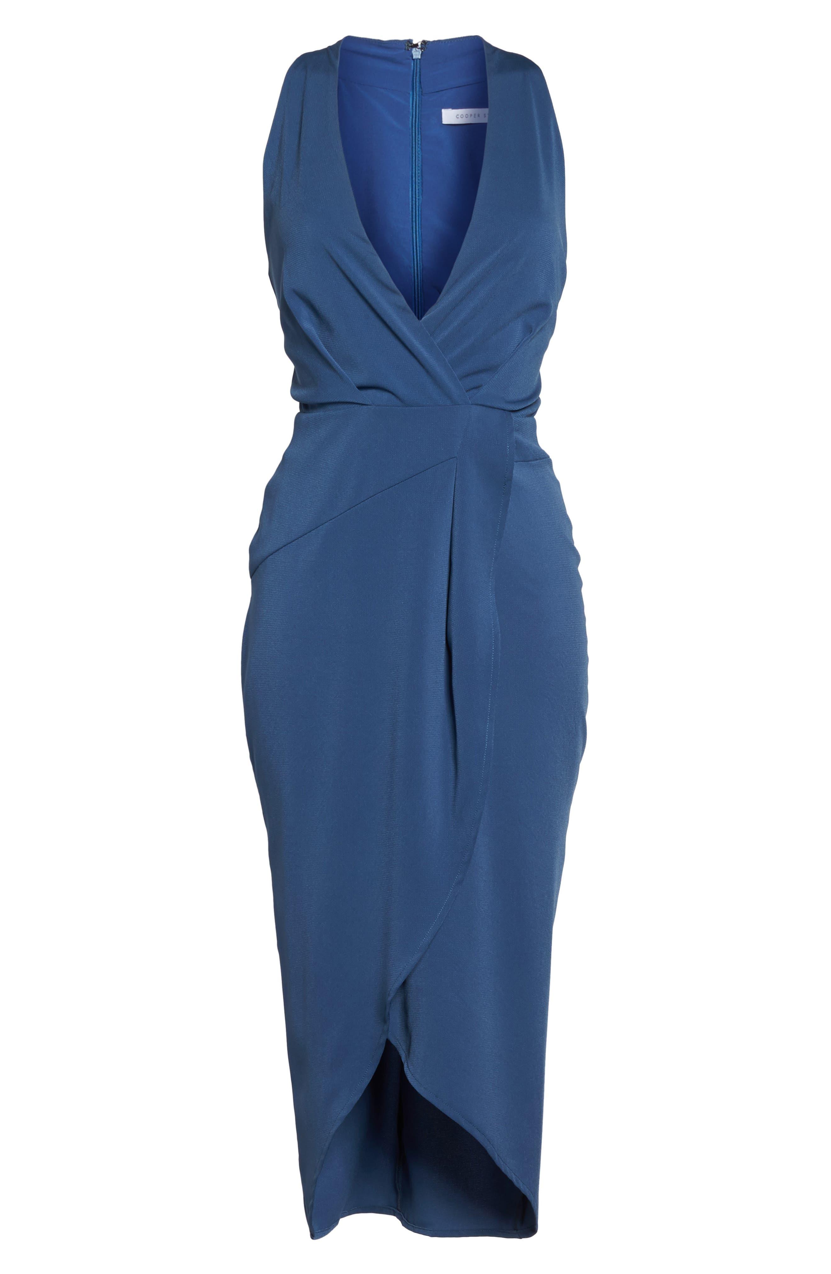 Claudia Drape Midi Dress,                             Alternate thumbnail 12, color,