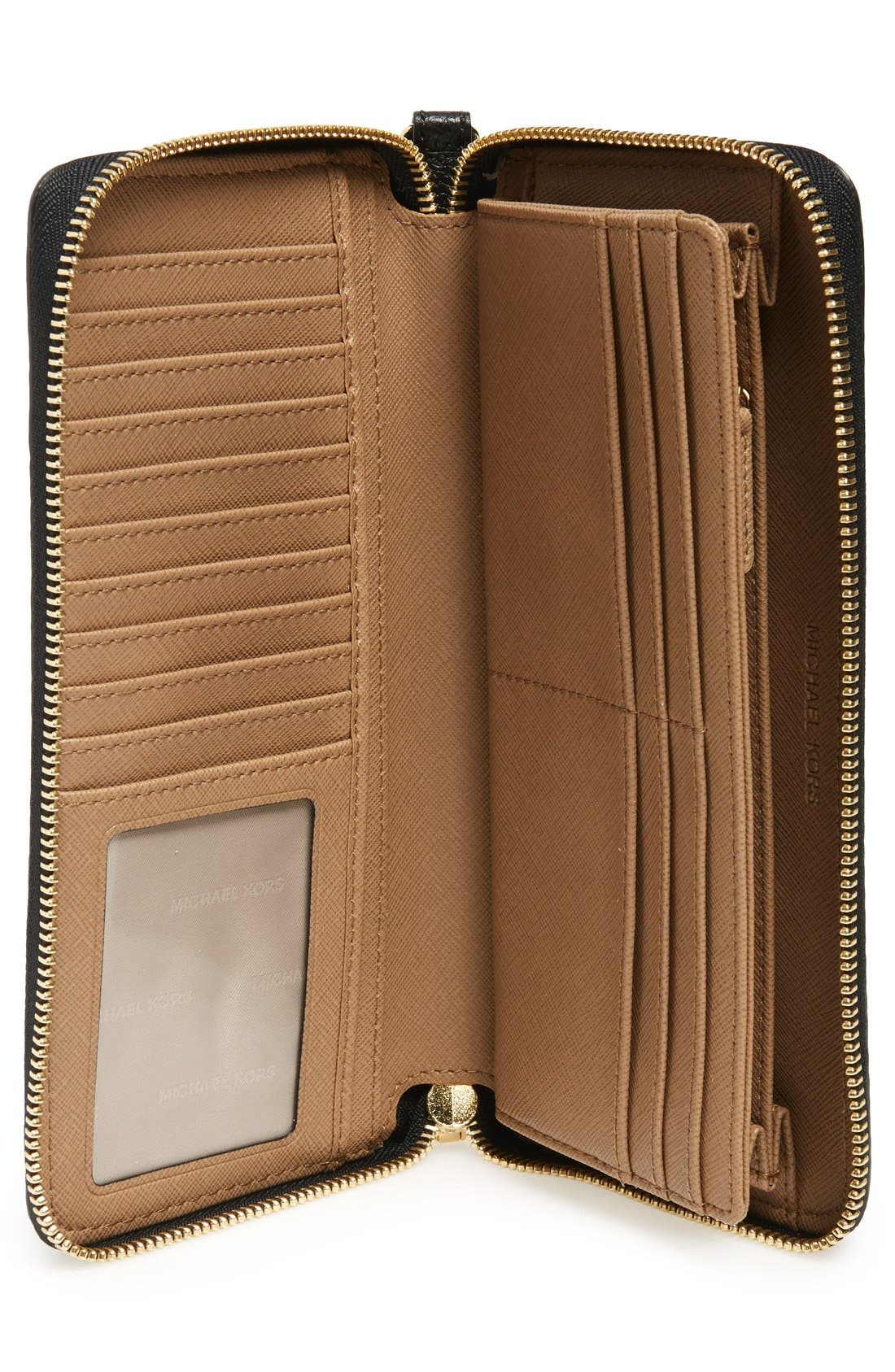 'Mercer' Leather Continental Wallet,                             Alternate thumbnail 18, color,