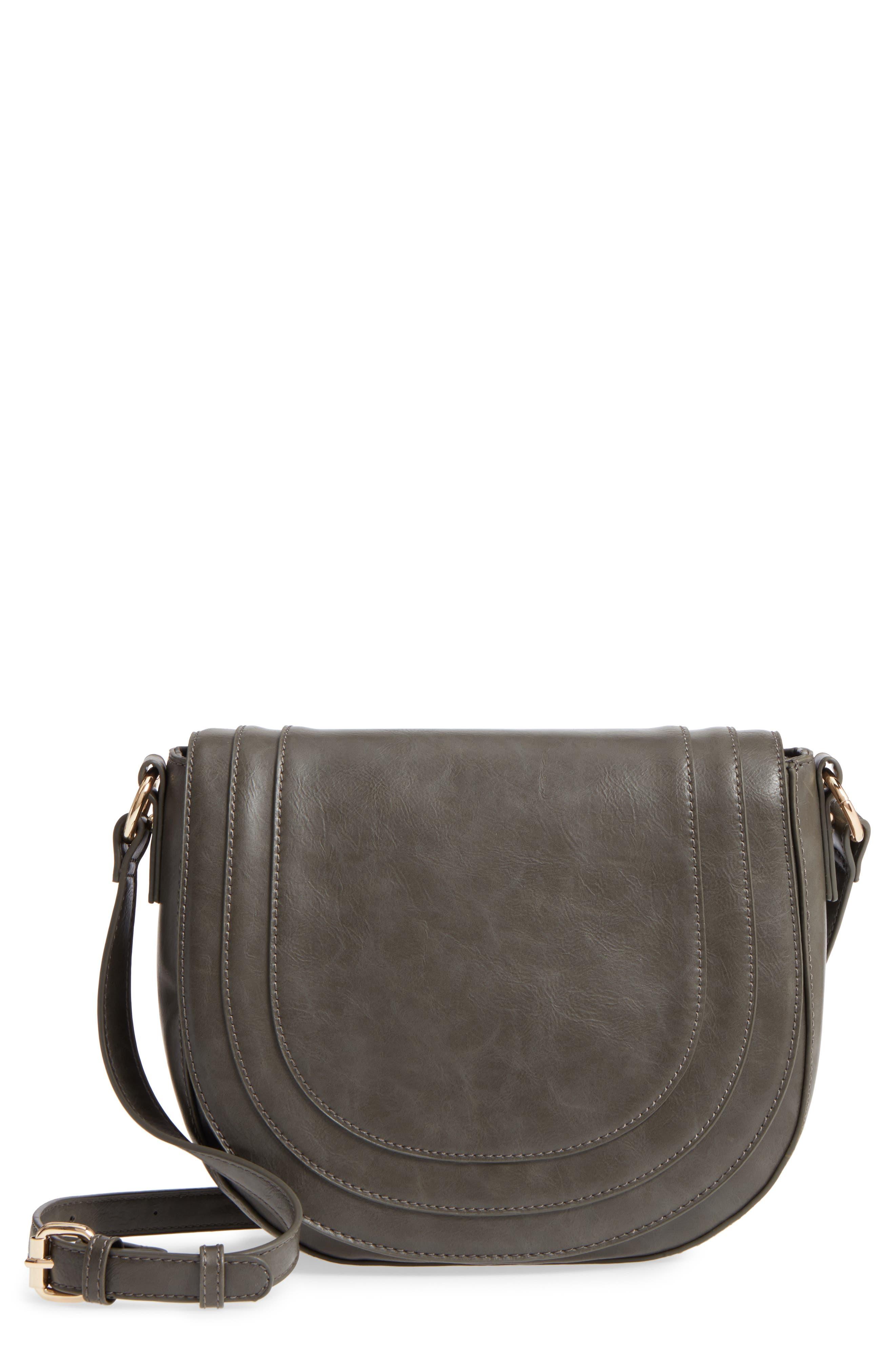 Piri Faux Leather Saddle Bag,                             Main thumbnail 2, color,