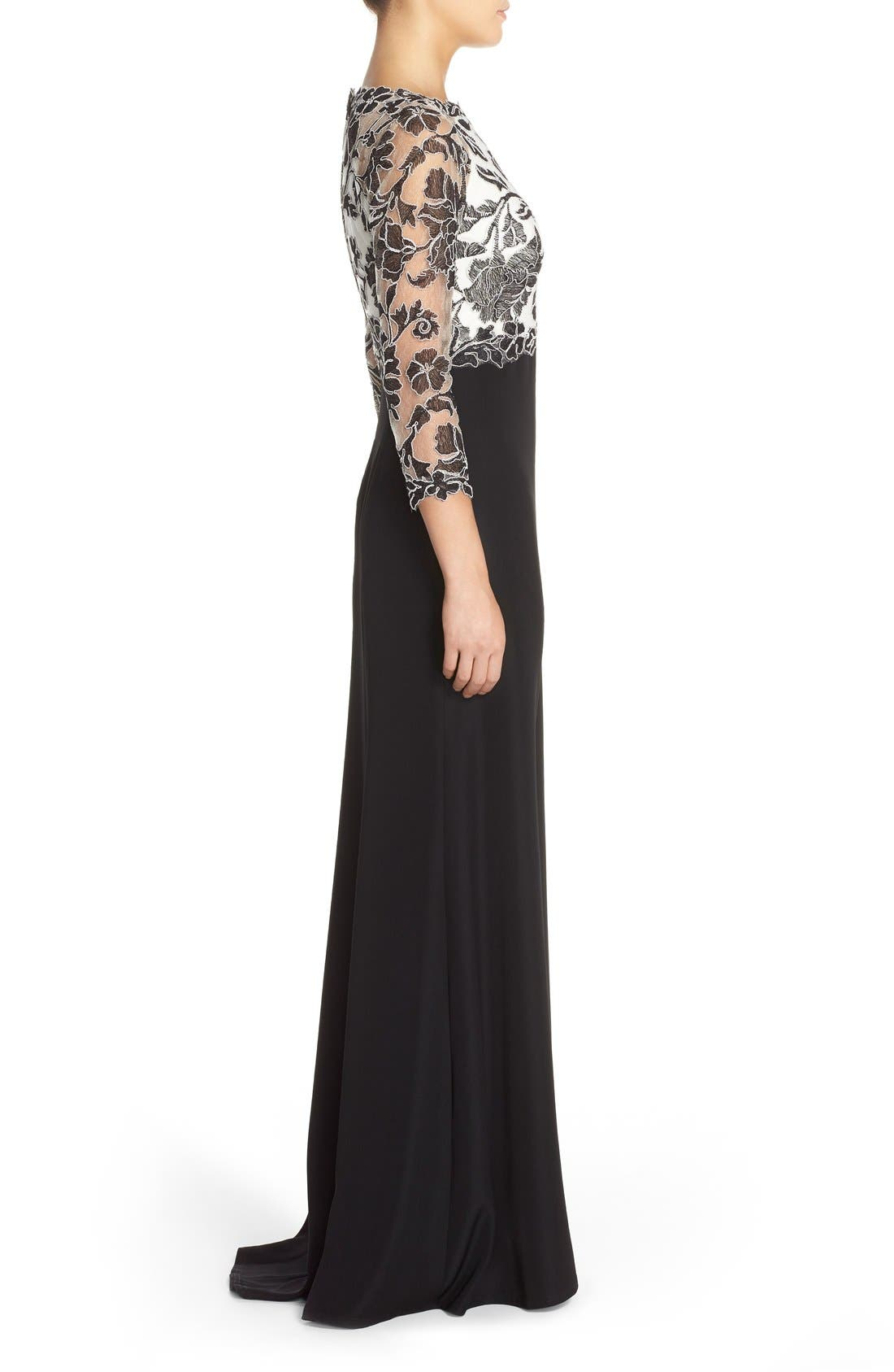 Embroidered Lace Gown,                             Alternate thumbnail 13, color,