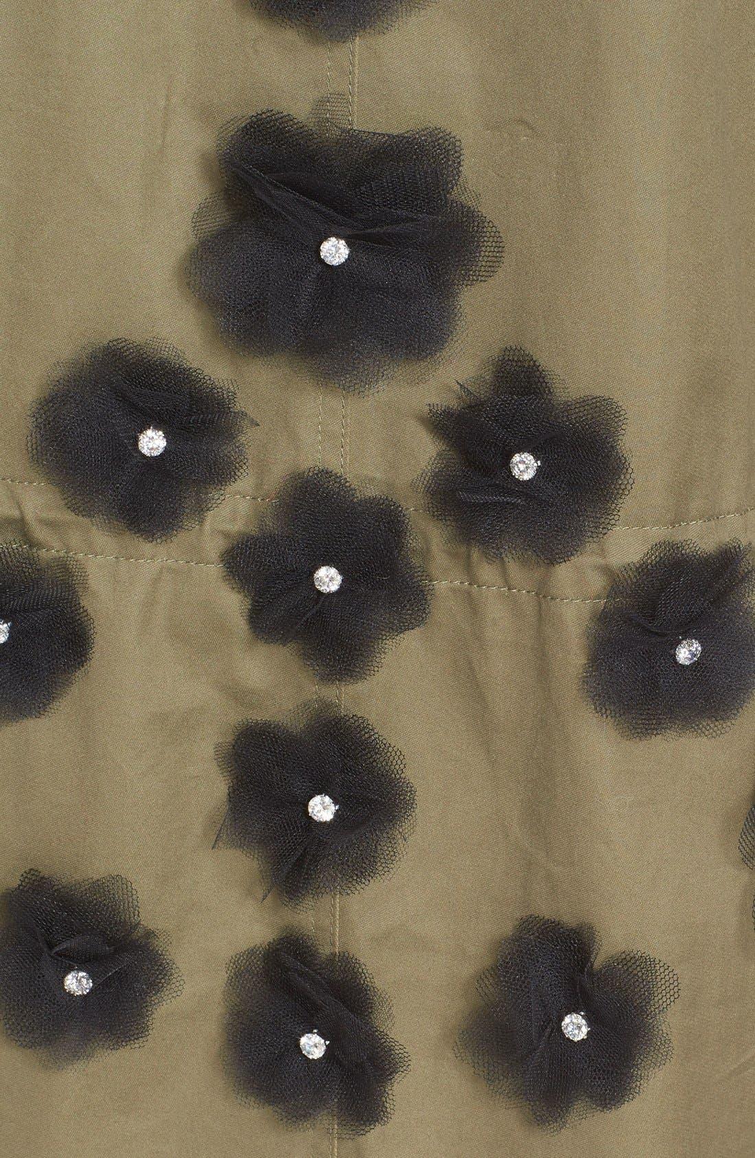 Tulle Flower Utility Coat,                             Alternate thumbnail 4, color,