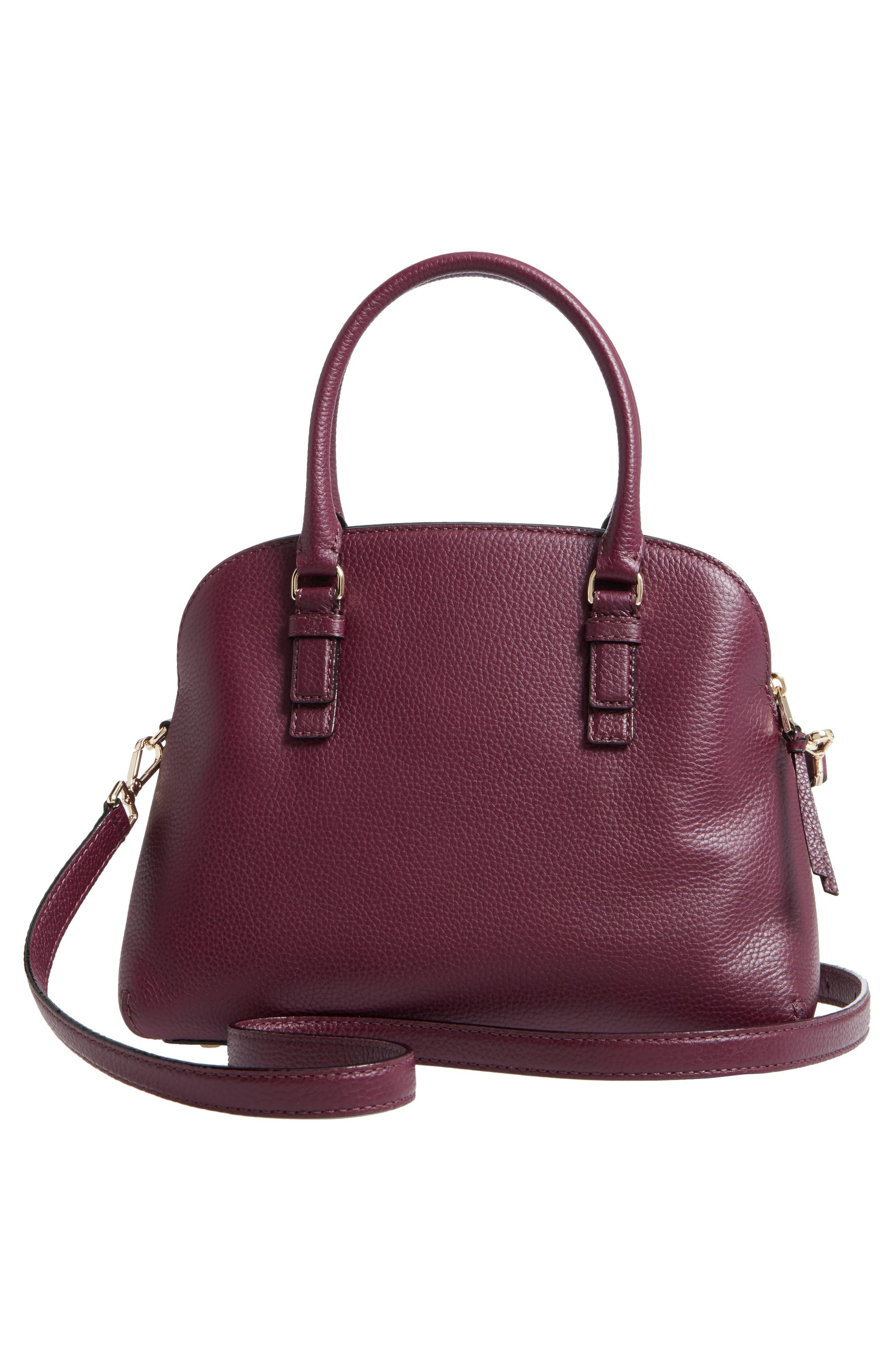 jackson street lottie leather satchel,                             Alternate thumbnail 9, color,