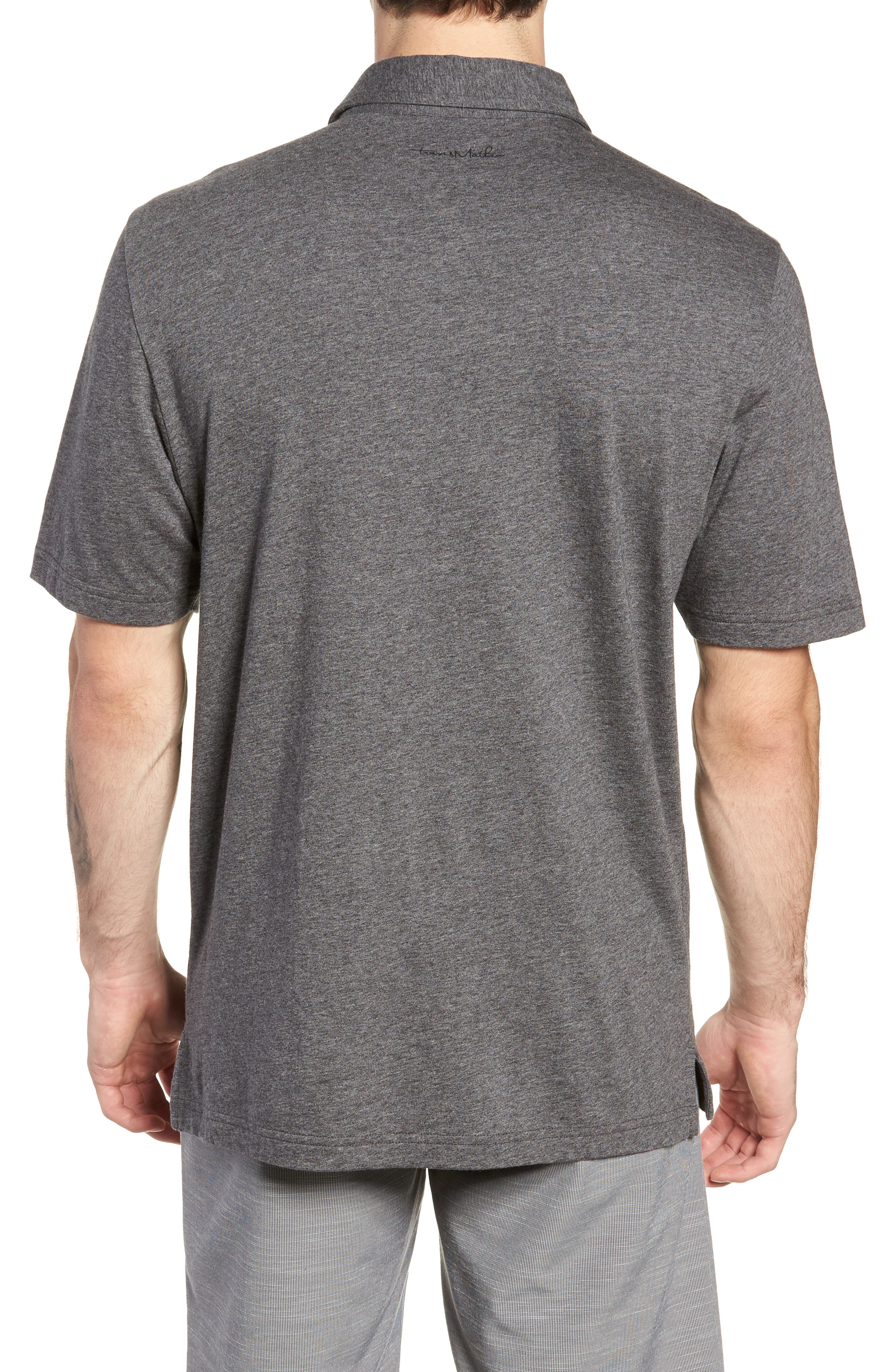 A Bomb Jersey Polo,                             Alternate thumbnail 2, color,                             HEATHER DARK GREY