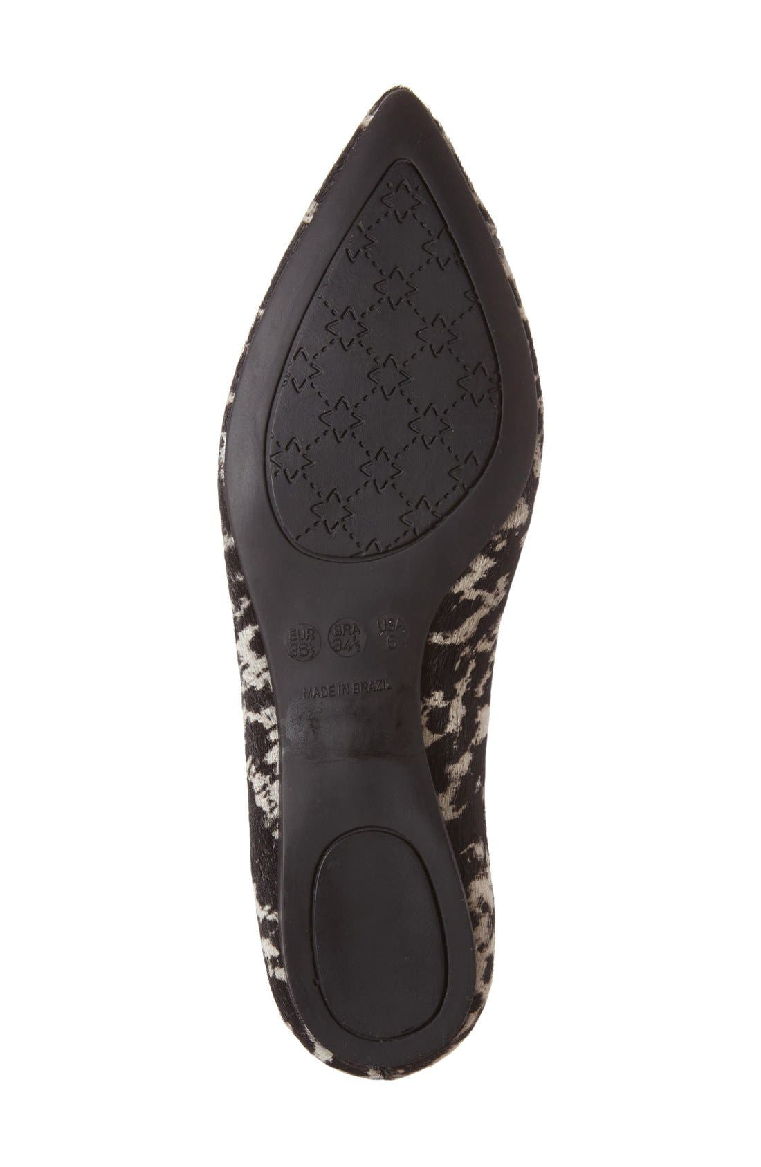 FRENCH SOLE,                             'Peppy' Pointy Toe Ballet Flat,                             Alternate thumbnail 4, color,                             005