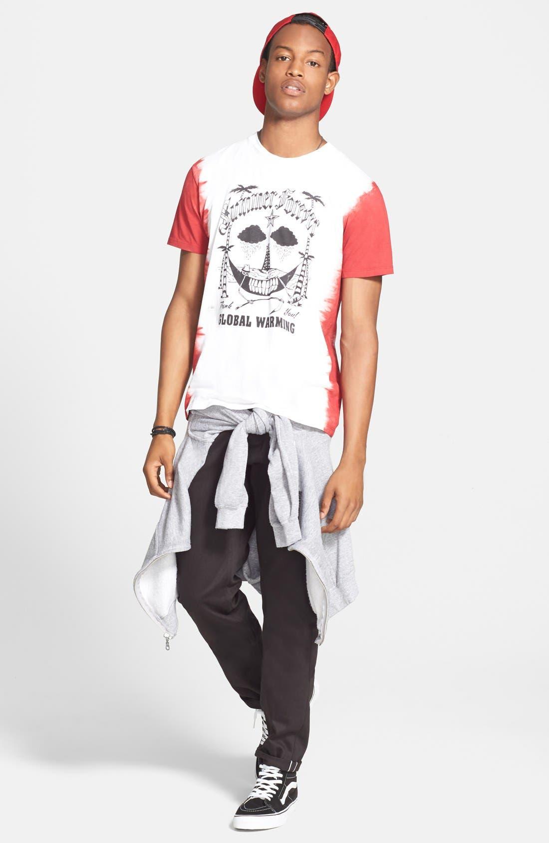 'UB155' Skinny Fit Raw Selvedge Jeans,                             Alternate thumbnail 4, color,                             001
