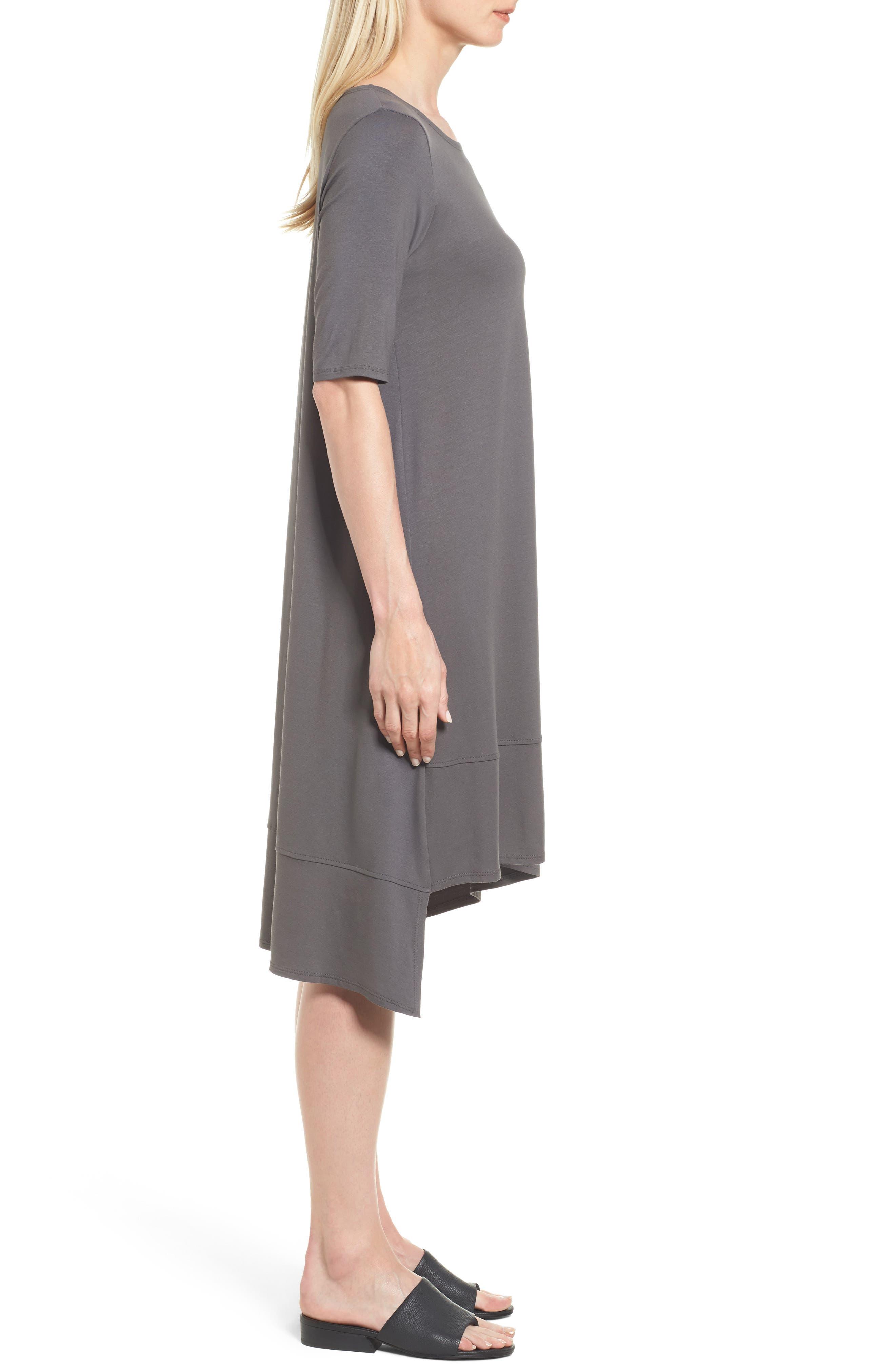 Jersey Asymmetrical A-Line Dress,                             Alternate thumbnail 12, color,