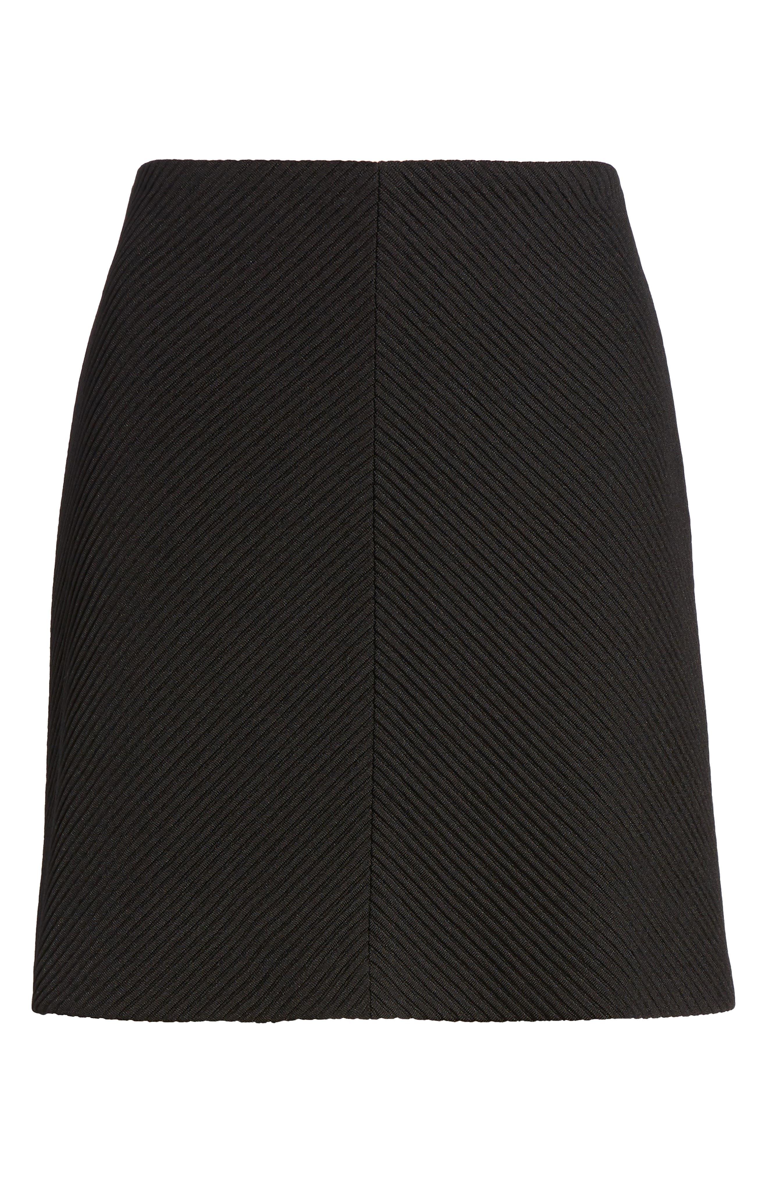 A-Line Knit Miniskirt,                             Alternate thumbnail 6, color,                             001