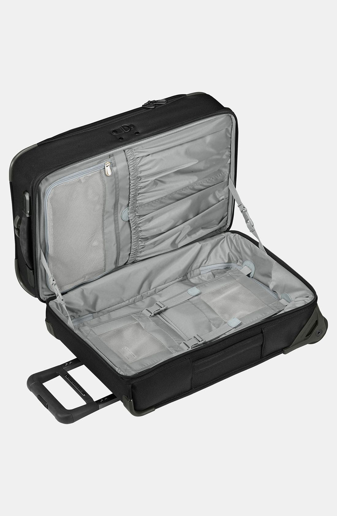 'Baseline - Domestic' Rolling Carry-On Garment Bag,                             Alternate thumbnail 5, color,                             BLACK
