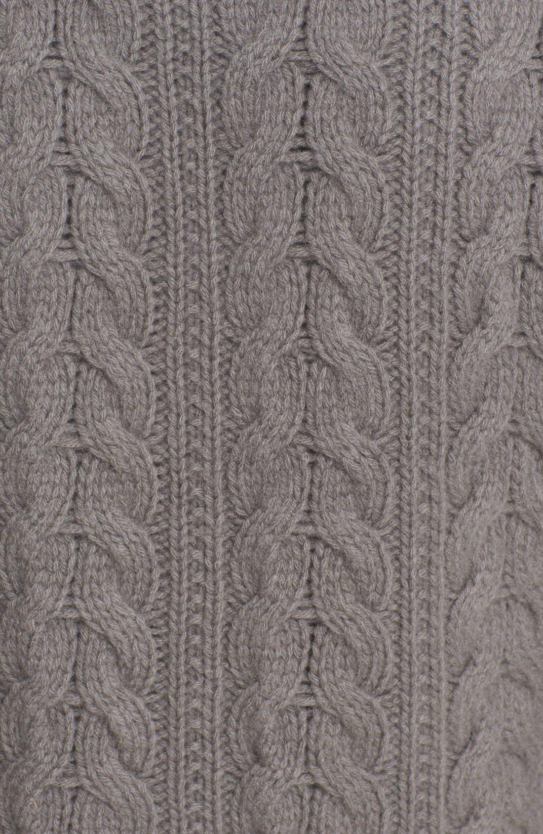 Genuine Mink Fur Vest with Cable Knit Back,                             Alternate thumbnail 3, color,                             078