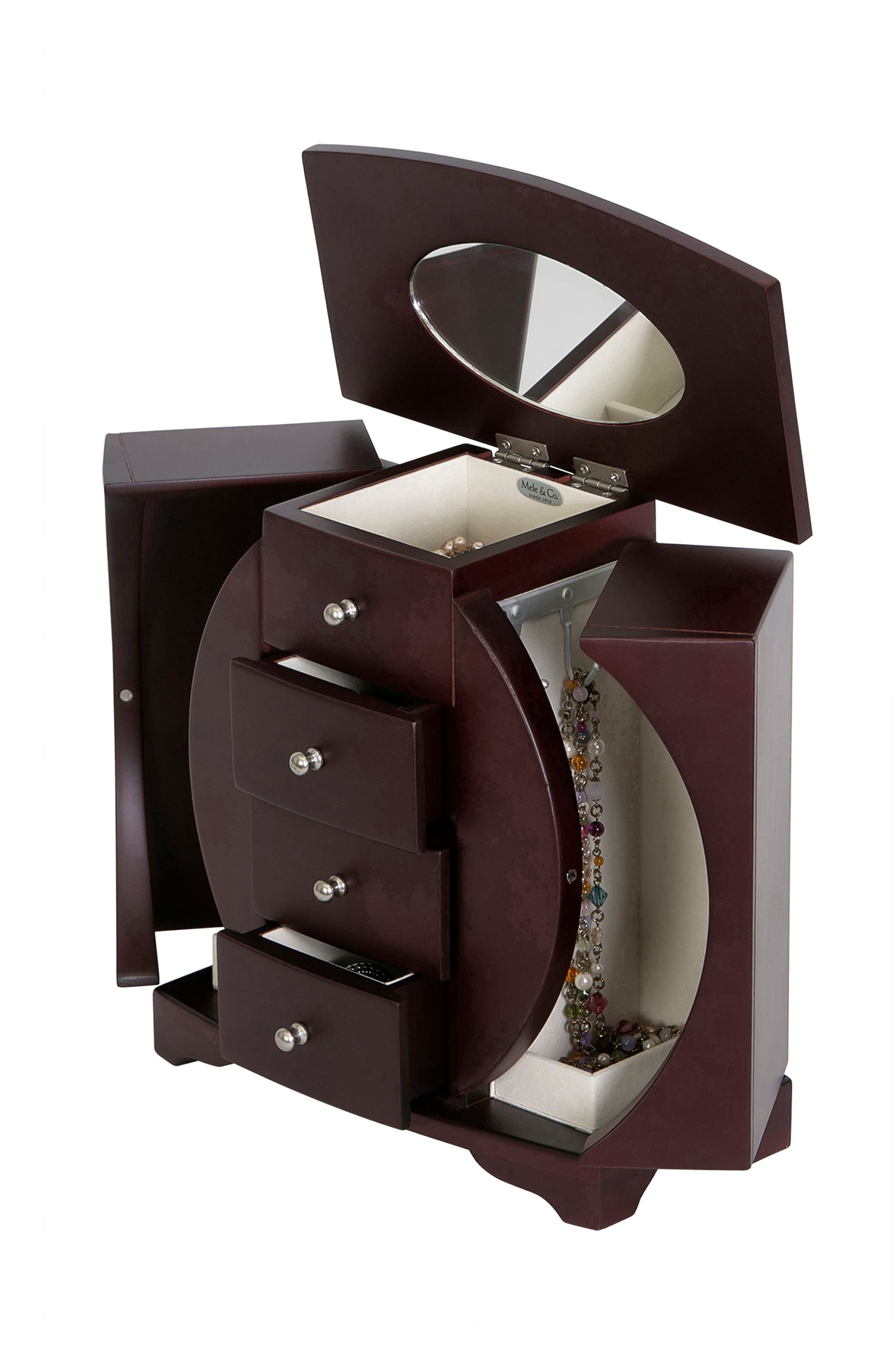 Simone Jewelry Box,                             Alternate thumbnail 3, color,                             BROWN