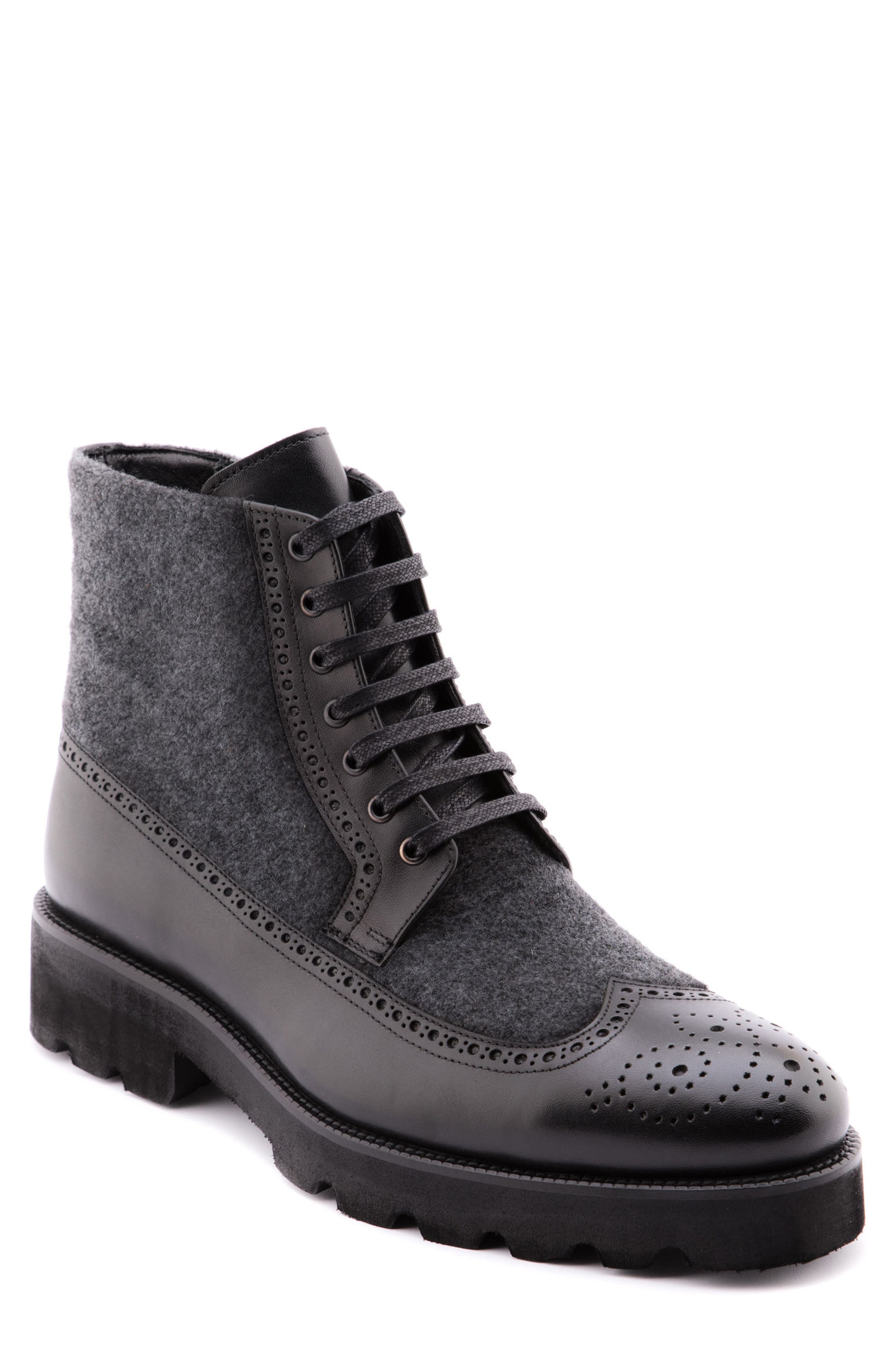 Wayne Wingtip Boot,                         Main,                         color, BLACK