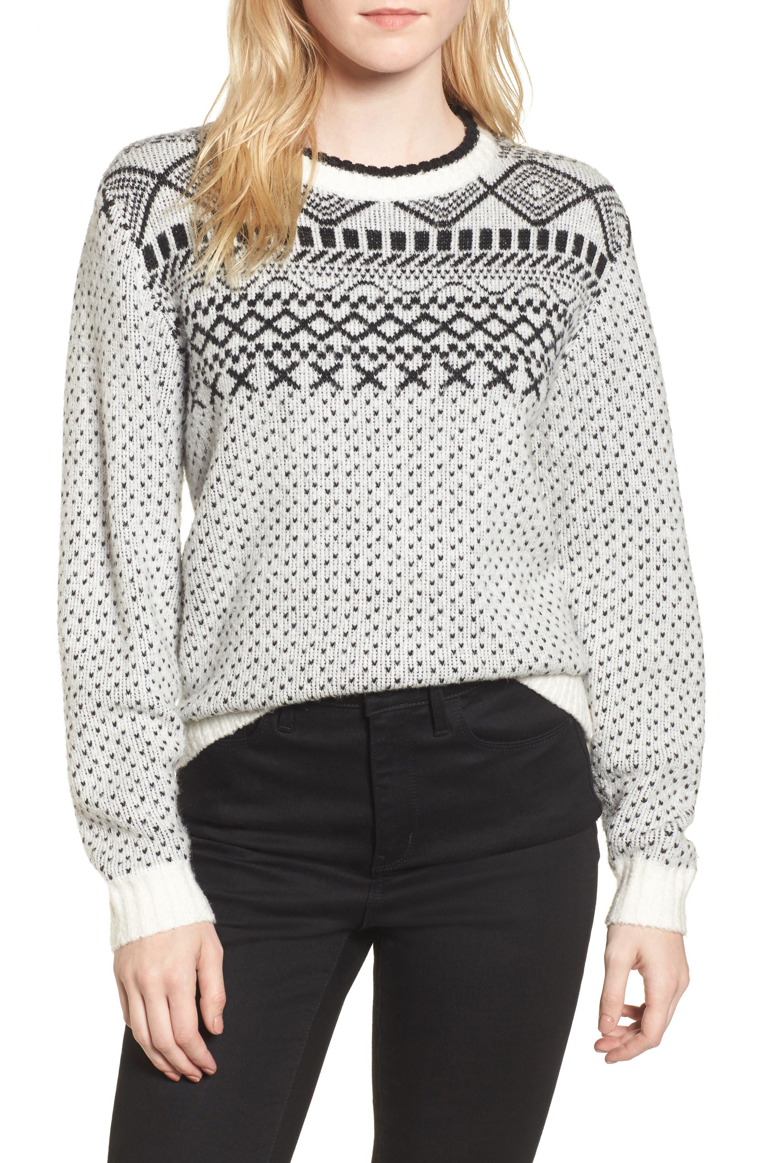 Fair Isle Sweater,                         Main,                         color, 900