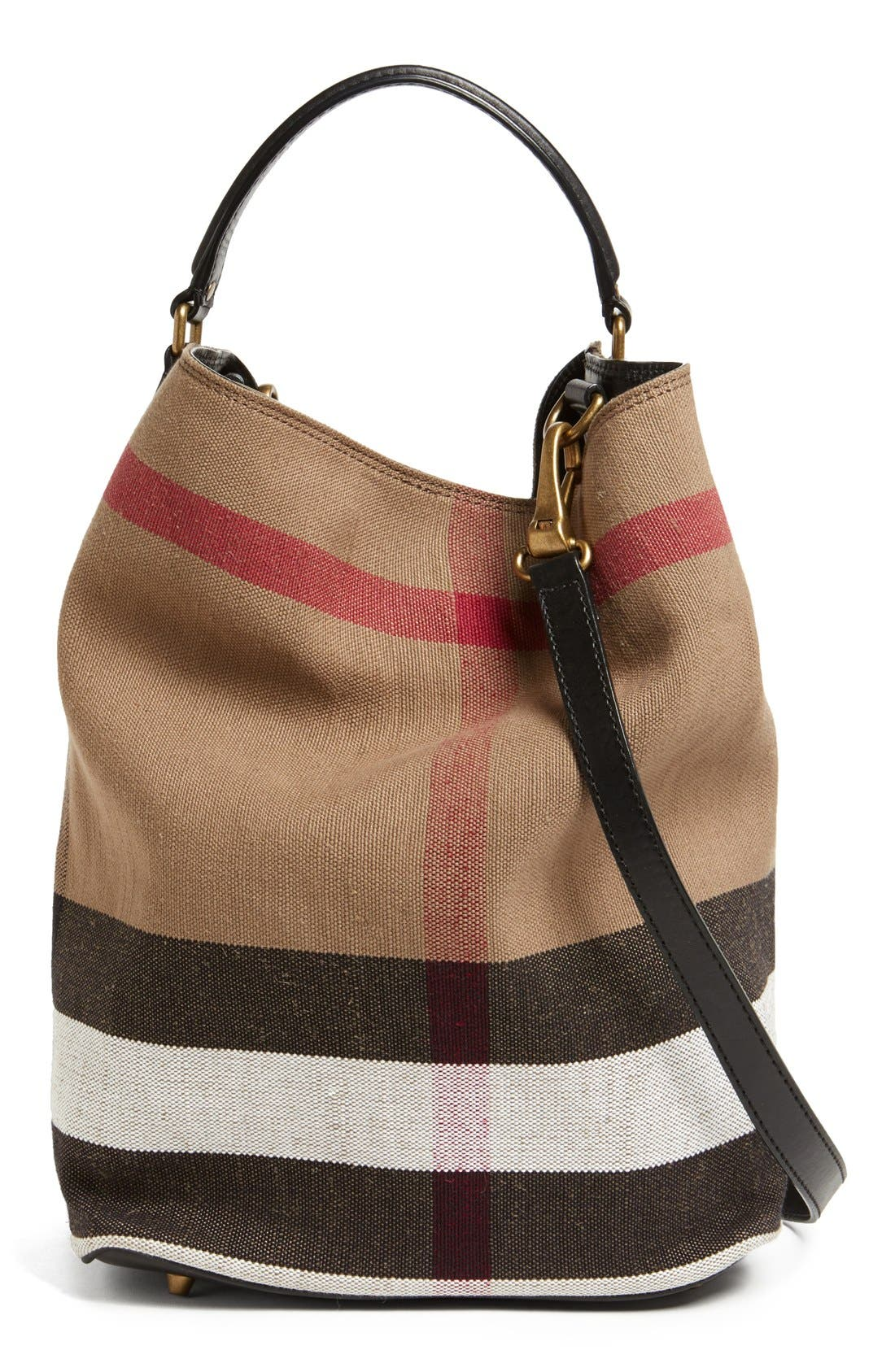 'Susanna - Medium' Bucket Bag, Main, color, 001
