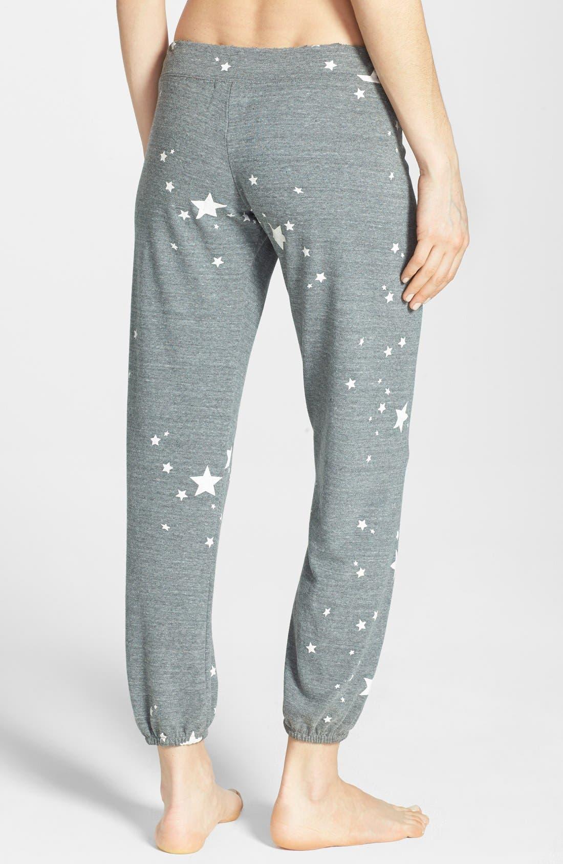 MONROW,                             'Stars' Vintage Fleece Sweatpants,                             Alternate thumbnail 2, color,                             030
