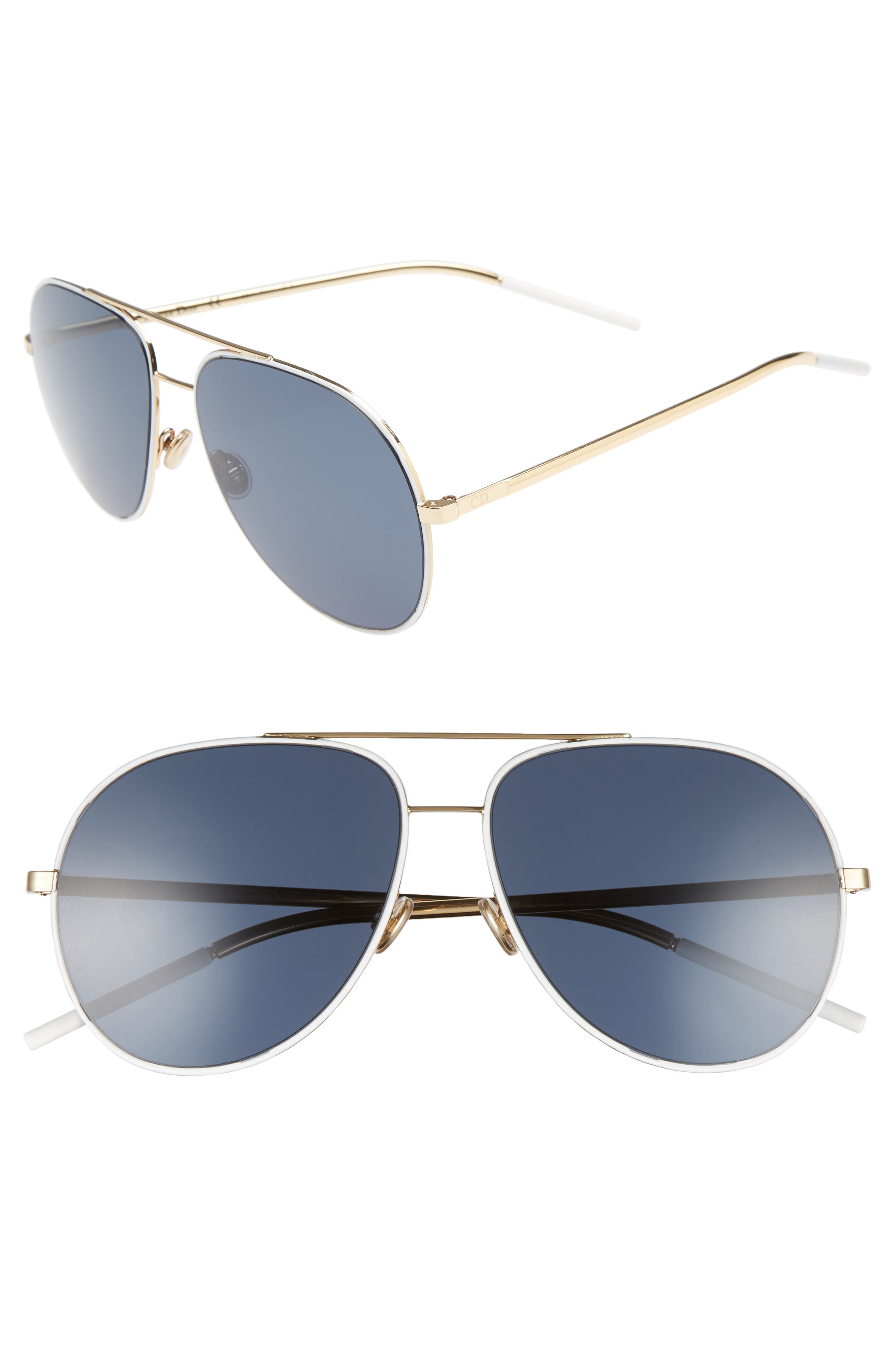Astrals 59mm Aviator Sunglasses,                             Main thumbnail 3, color,