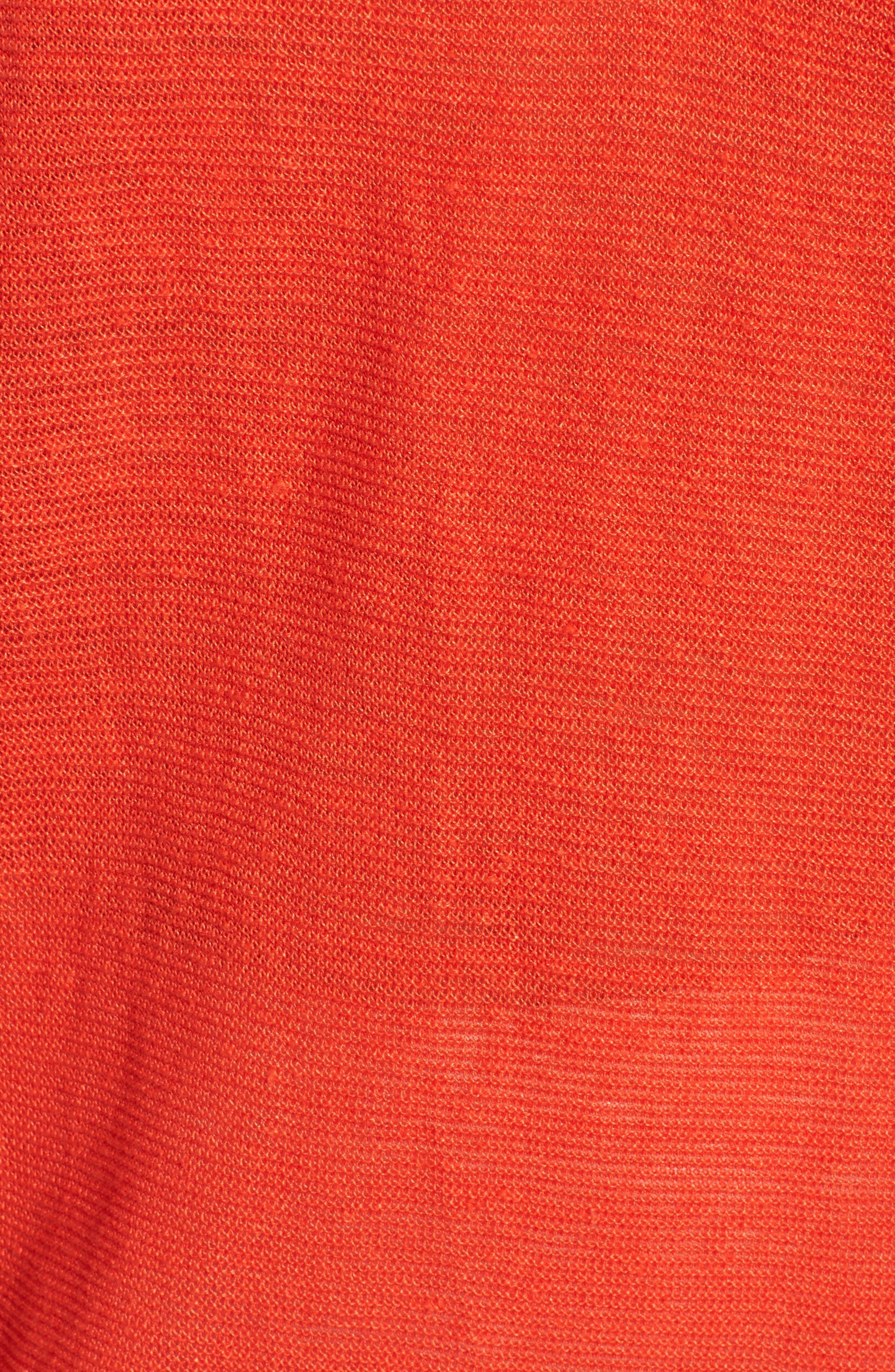 V-Neck Organic Linen Top,                             Alternate thumbnail 30, color,