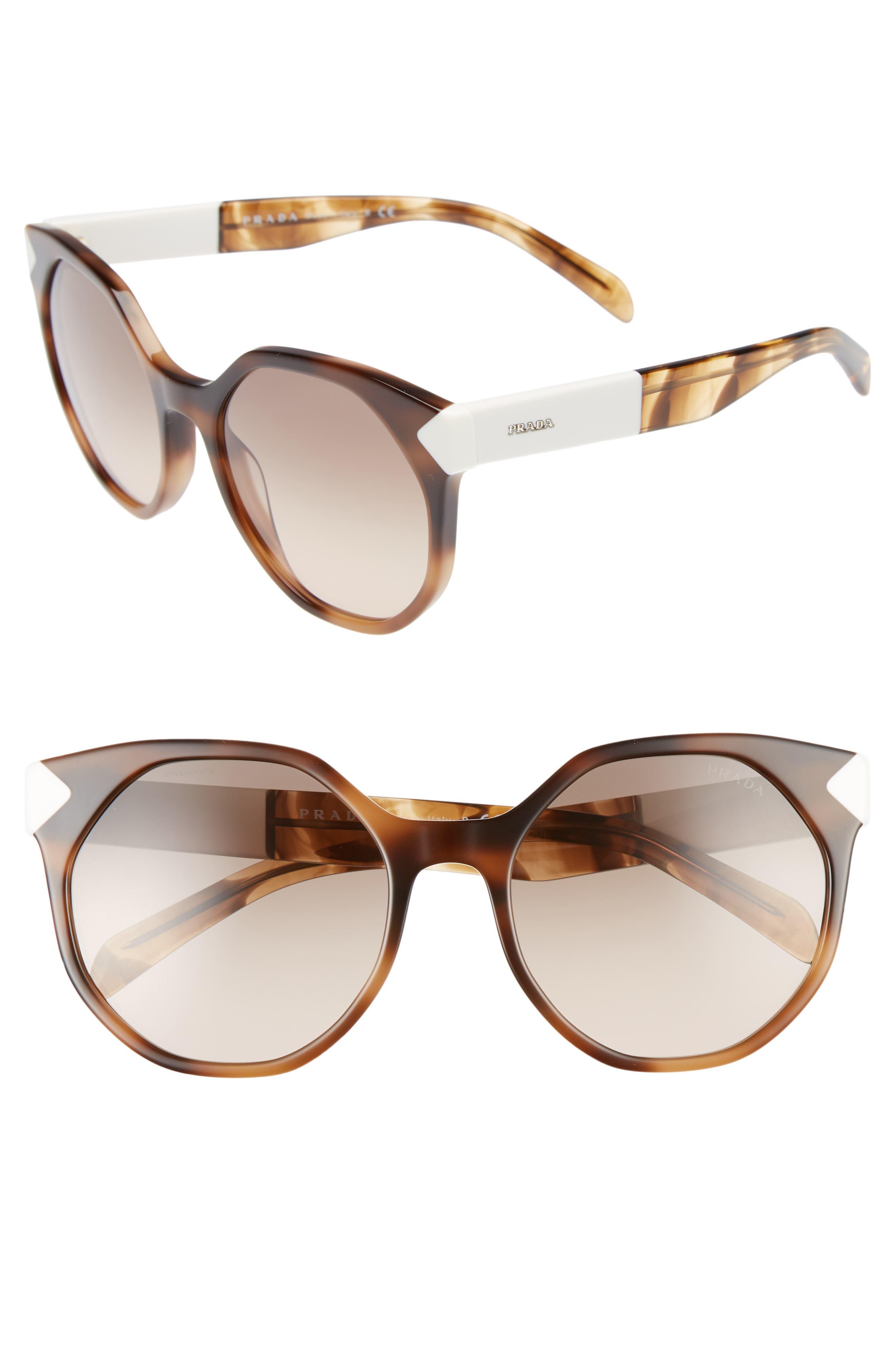 55mm Gradient Geometric Sunglasses,                             Main thumbnail 1, color,                             200