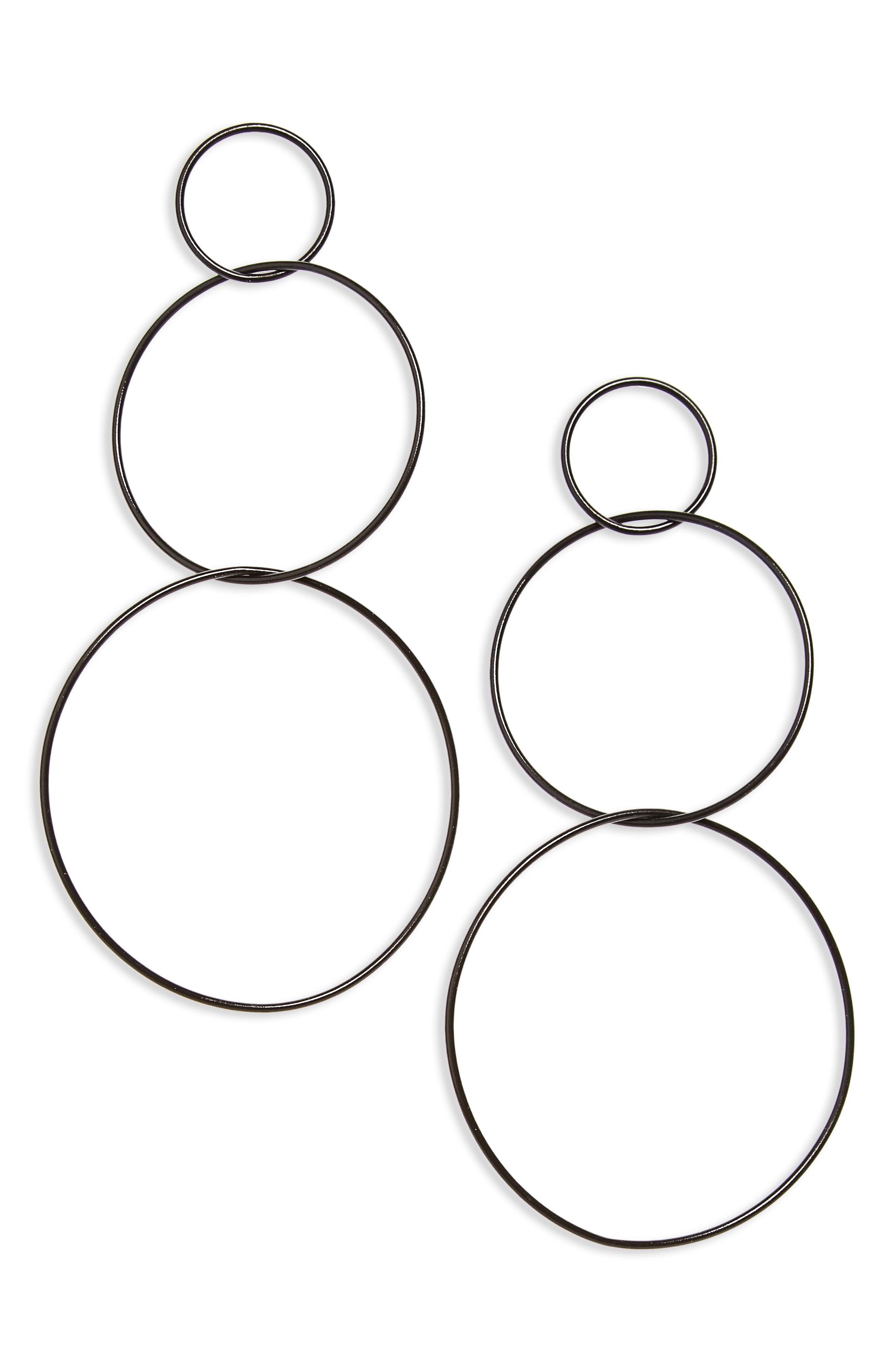 Floyd Circle Earrings,                         Main,                         color, 001