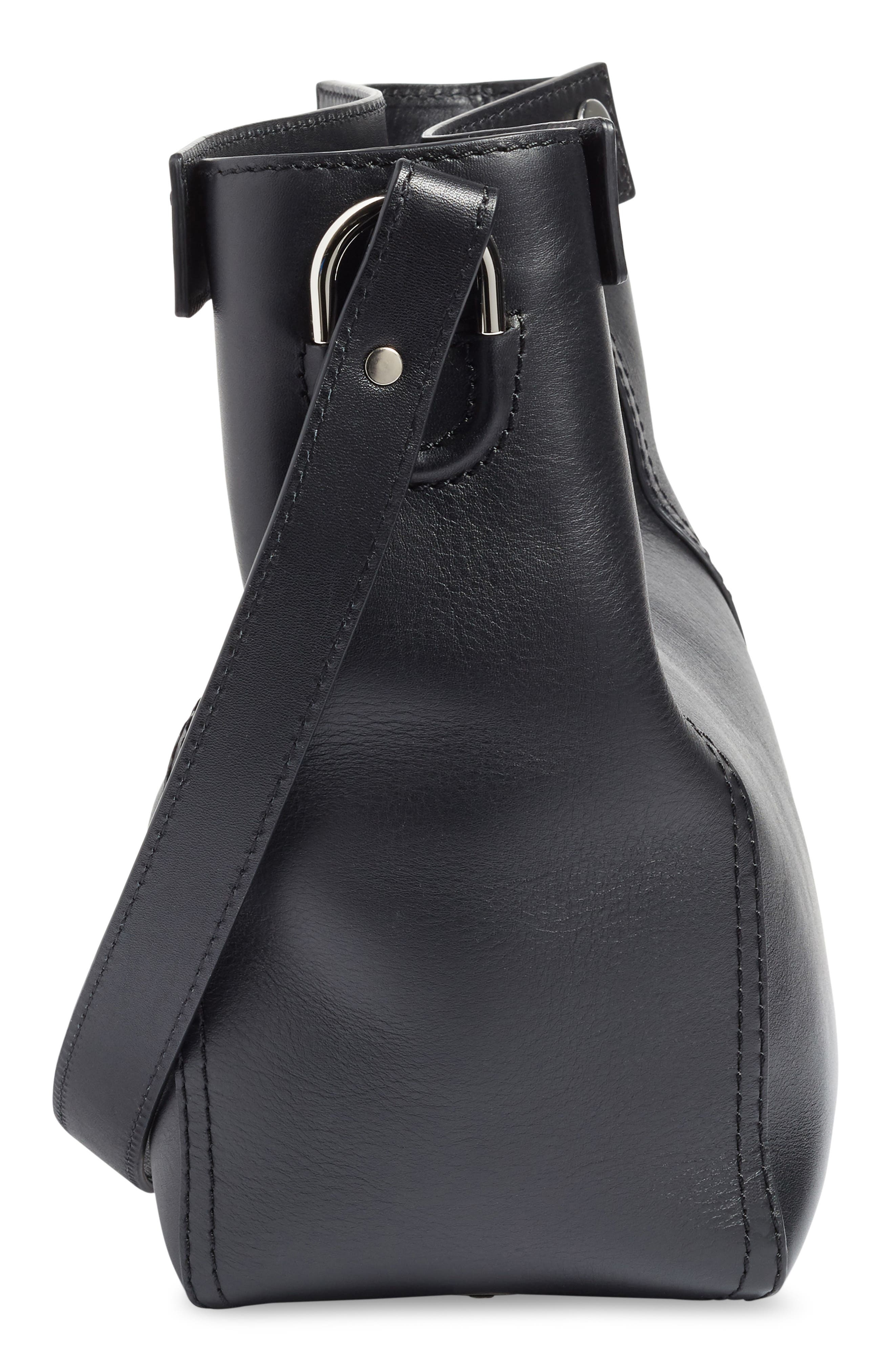 Small Dolly Leather Tote,                             Alternate thumbnail 5, color,                             001