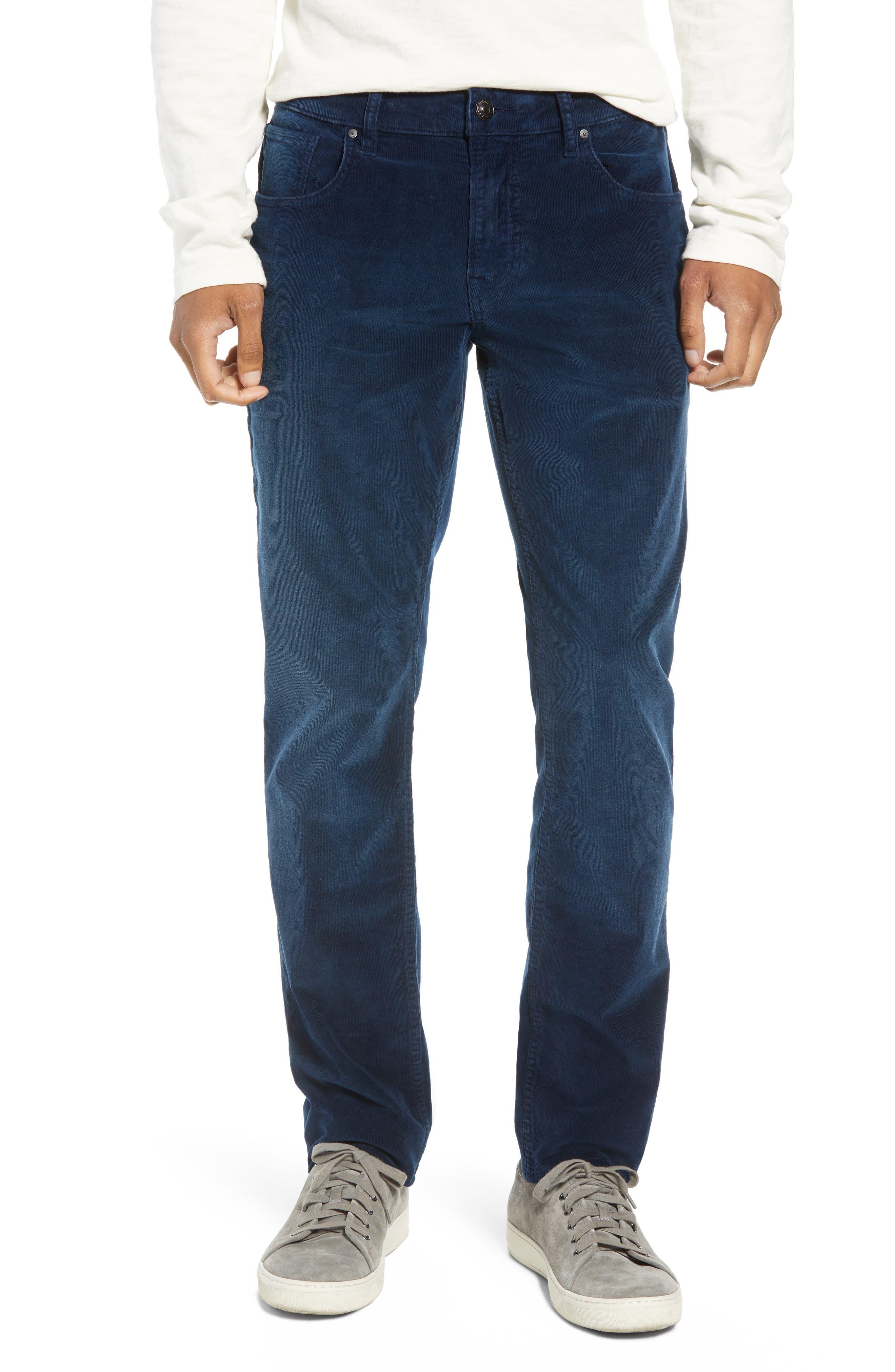 Blake Slim Fit Straight Leg Corduroy Pants,                             Main thumbnail 1, color,                             BLACK