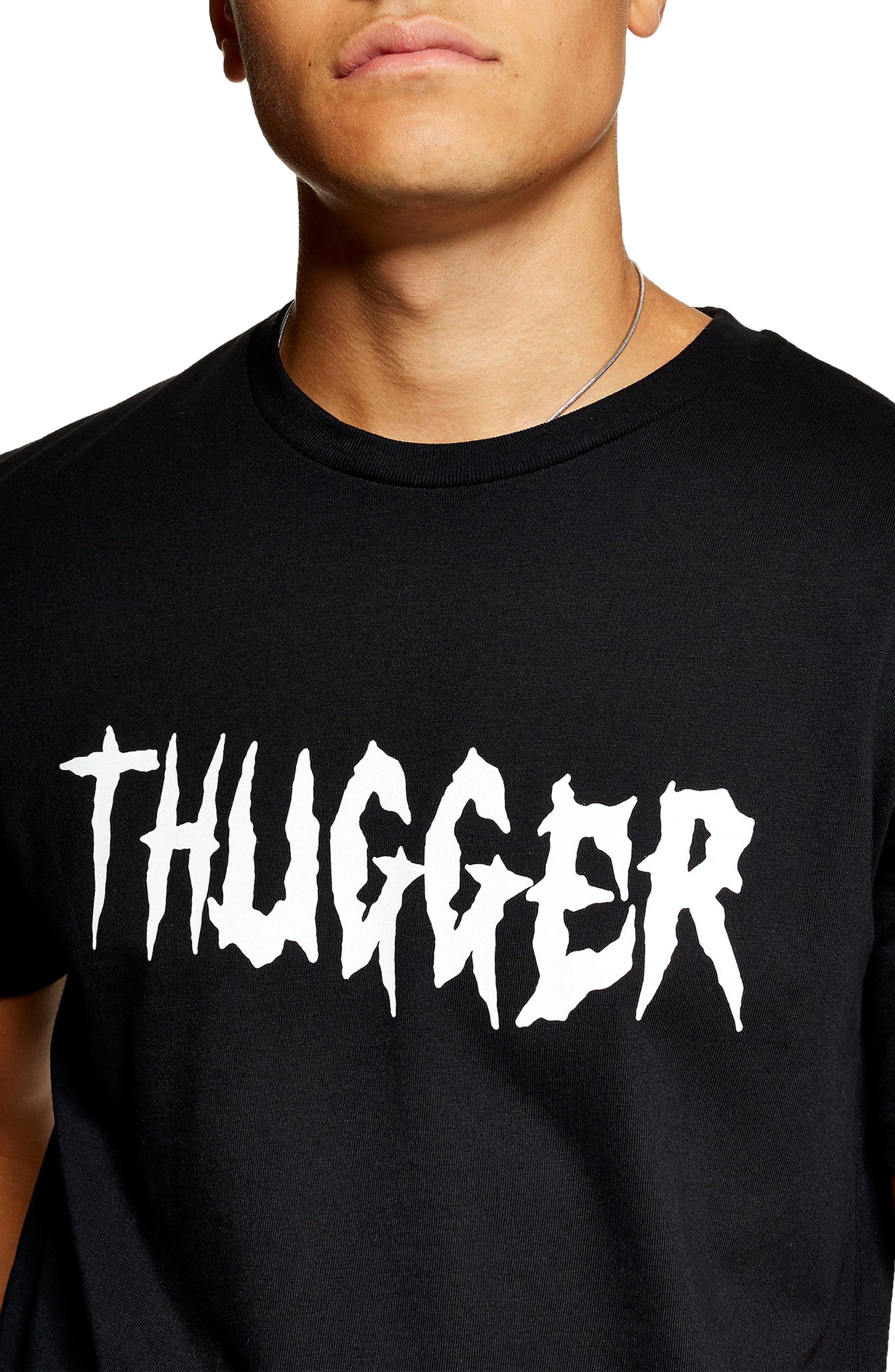 Thugger Graphic T-Shirt,                             Alternate thumbnail 3, color,                             001
