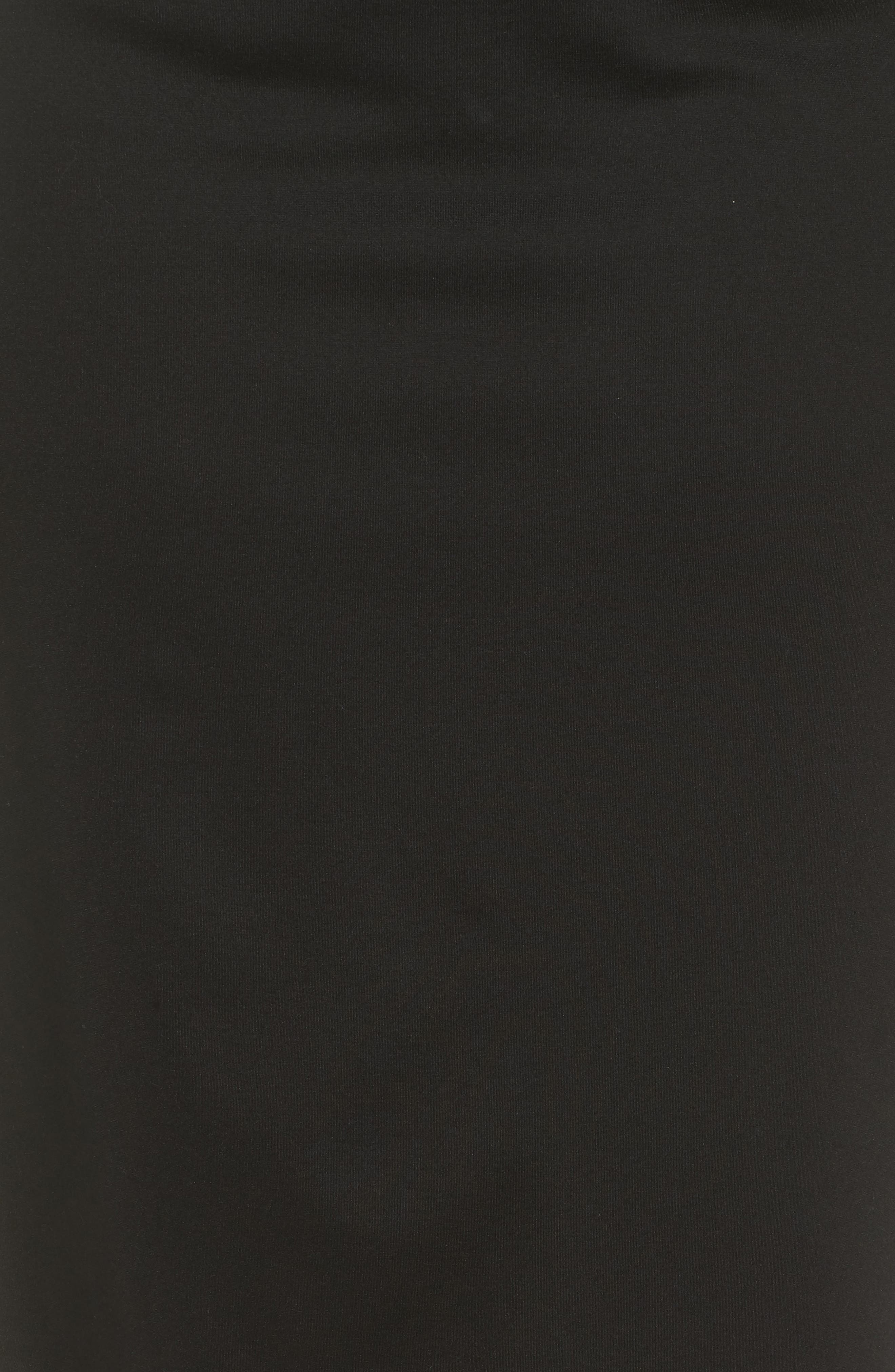 Ponte Pencil Skirt,                             Alternate thumbnail 5, color,                             BLACK