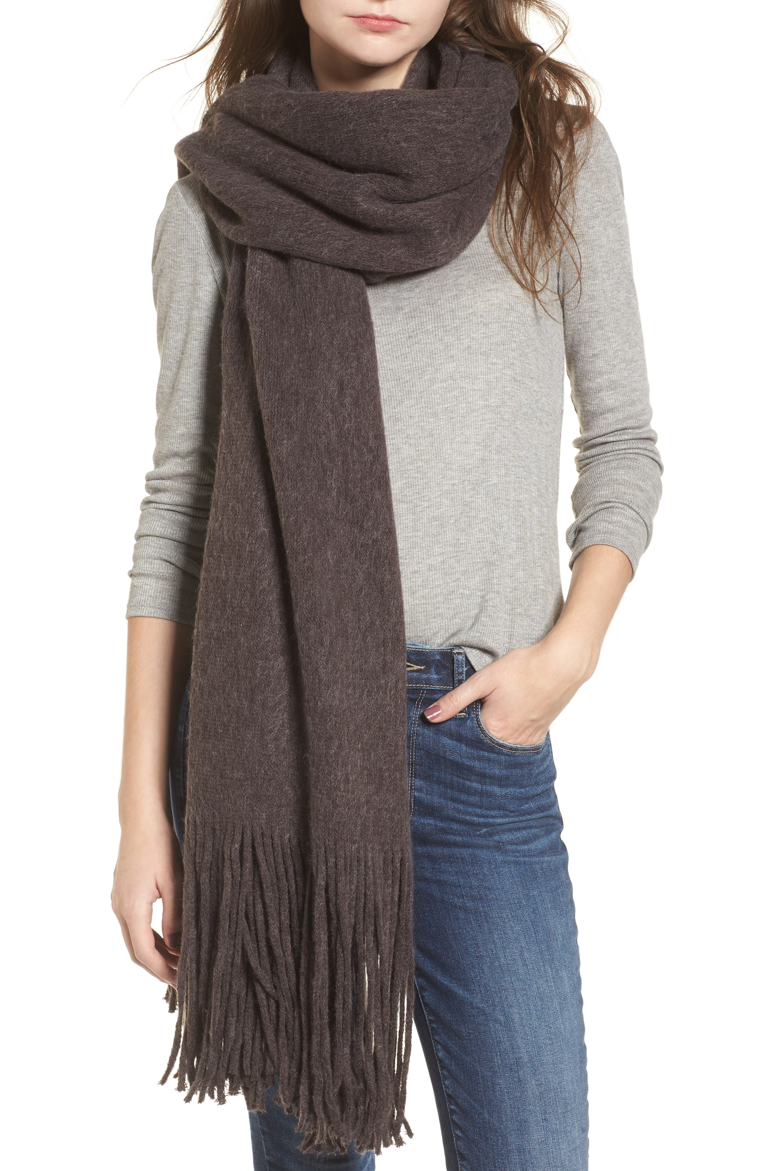 Kolby Brushed Scarf,                             Main thumbnail 1, color,                             021