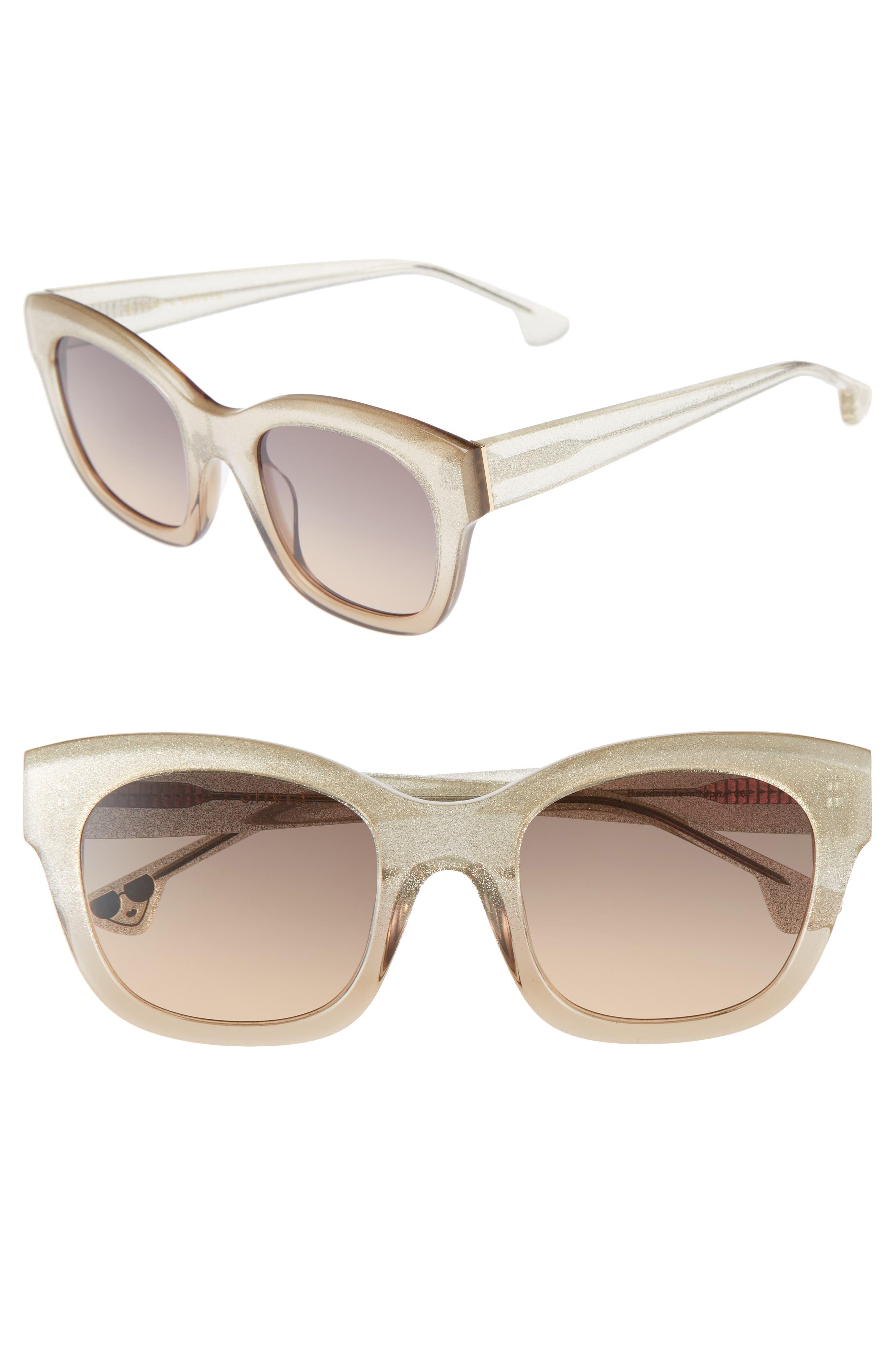 Victoria 50mm Cat Eye Sunglasses,                         Main,                         color, 001