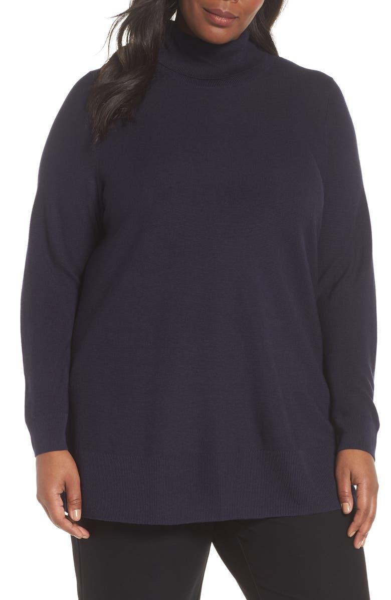 0af5f98be26 Eileen Fisher Tencel® Lyocell   Silk Turtleneck Tunic (Plus Size ...