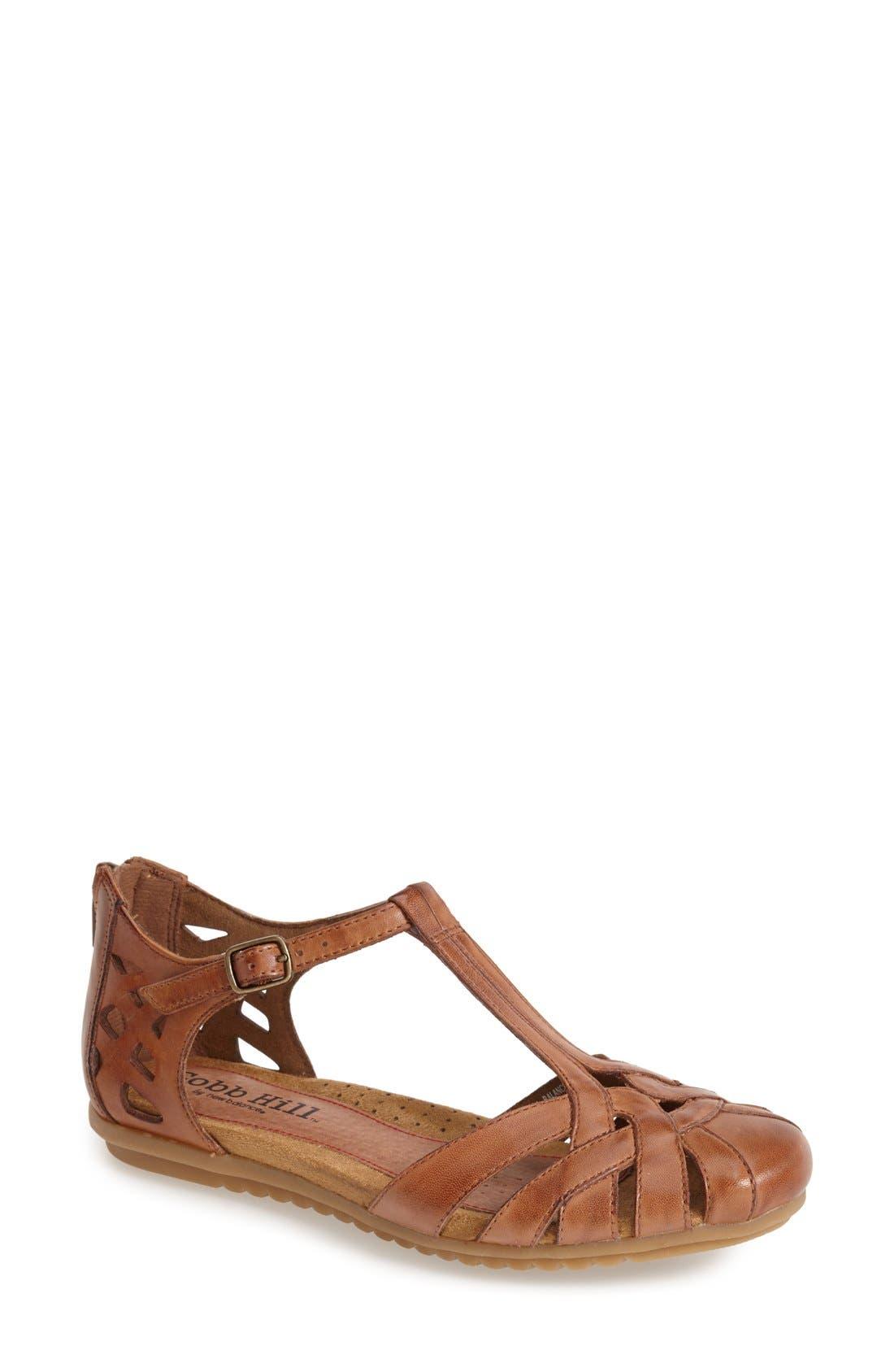 'Ireland' Leather Sandal,                             Main thumbnail 1, color,                             TAN
