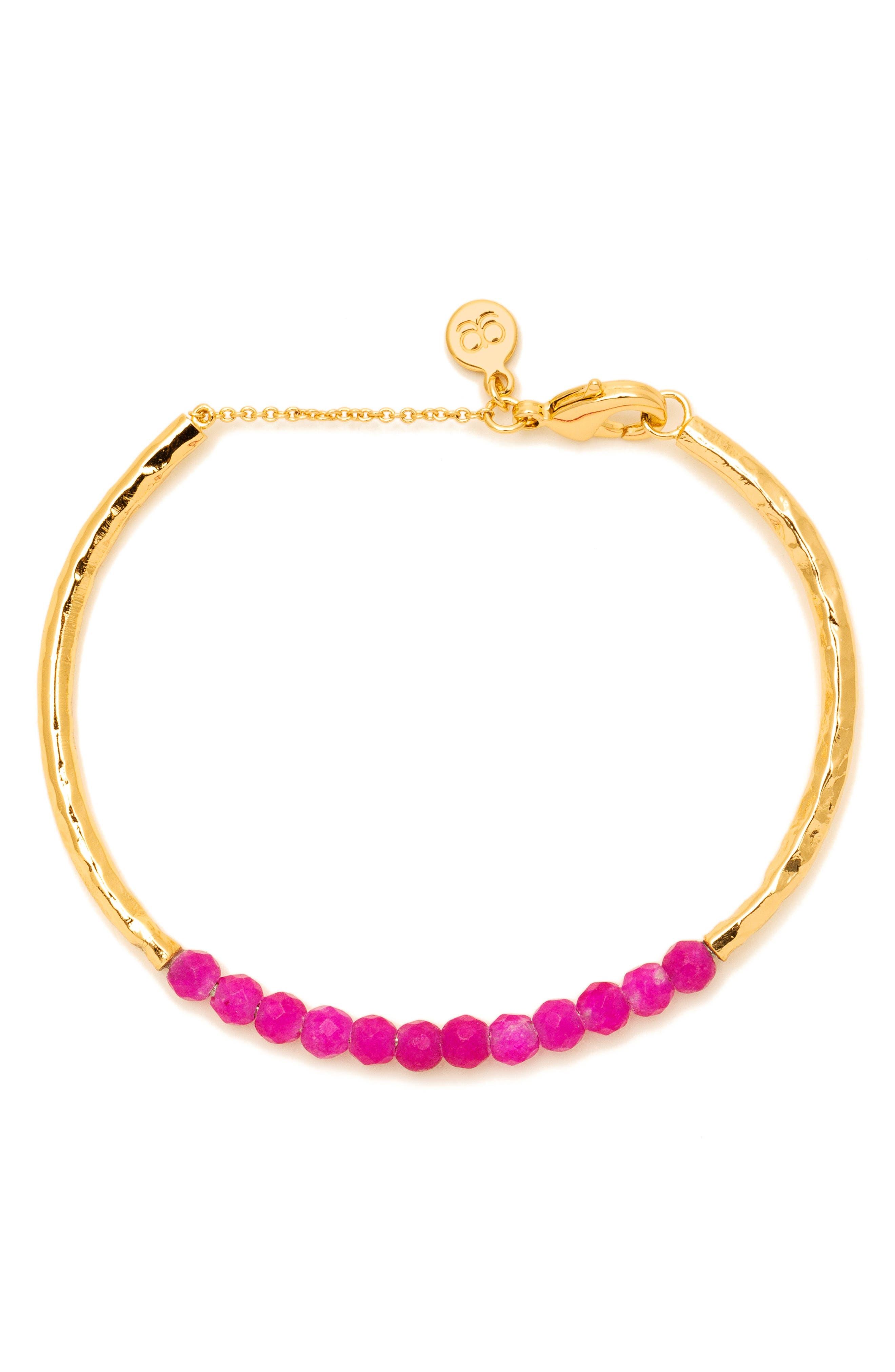 Power Stone Semiprecious Beaded Bracelet,                             Main thumbnail 7, color,