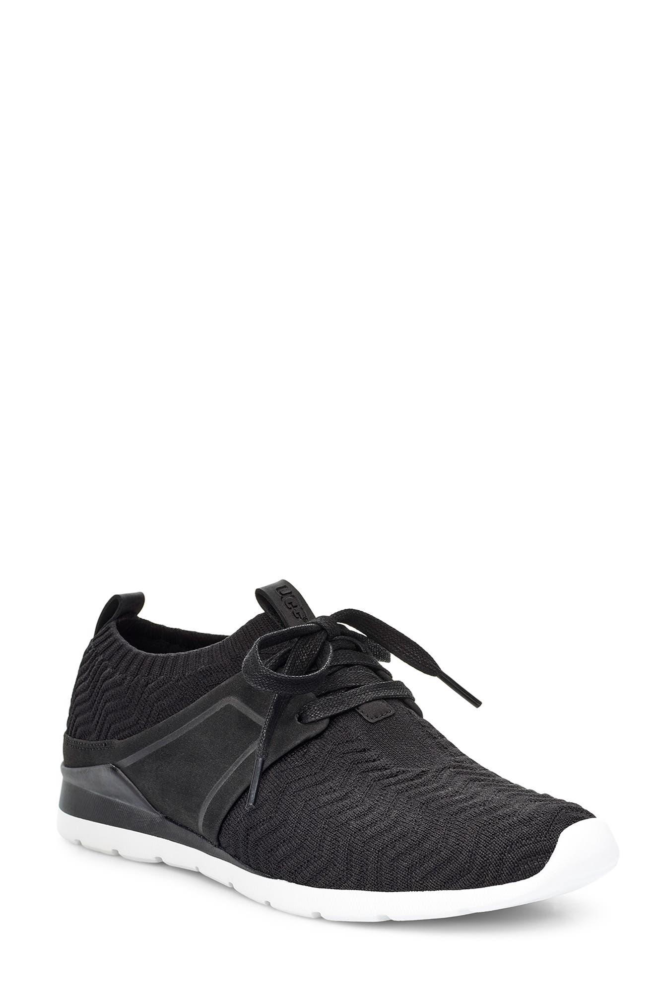 UGG<SUP>®</SUP>,                             Willows Sneaker,                             Main thumbnail 1, color,                             BLACK