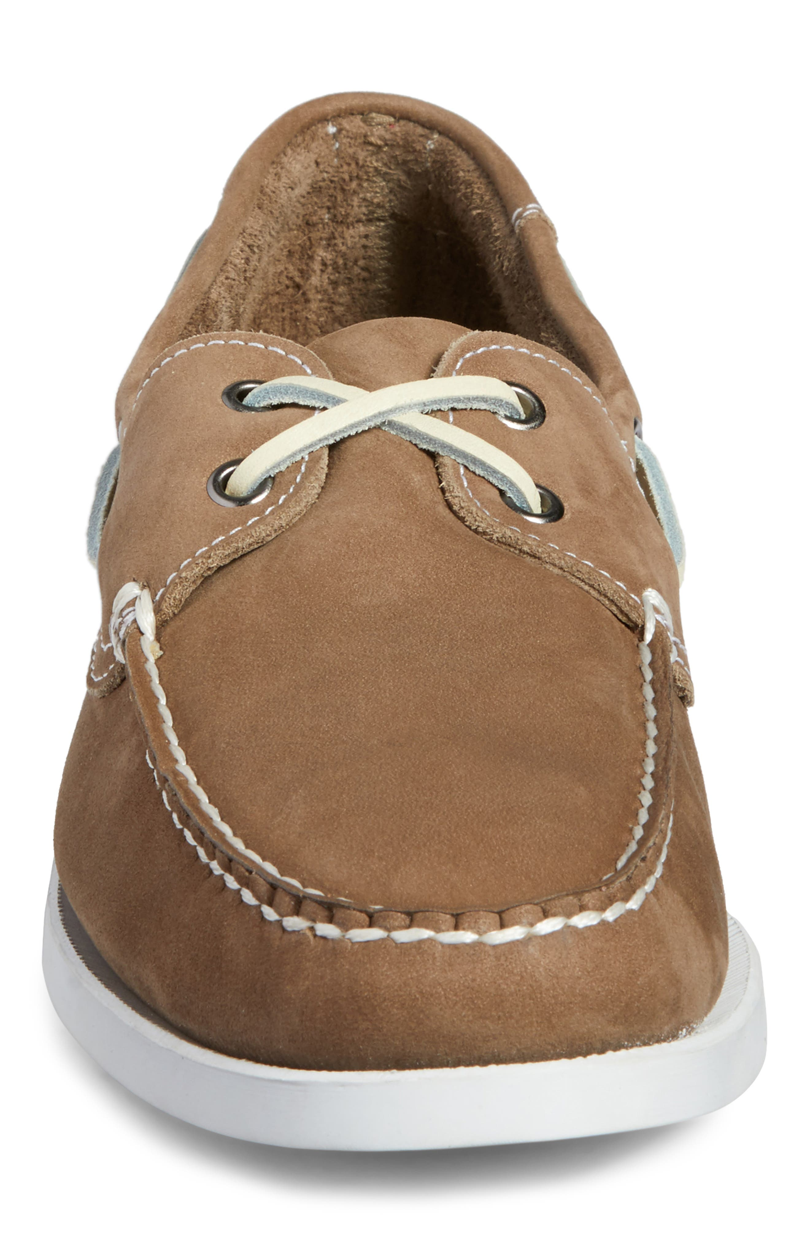 Pacific Boat Shoe,                             Alternate thumbnail 4, color,                             GREY NUBUCK