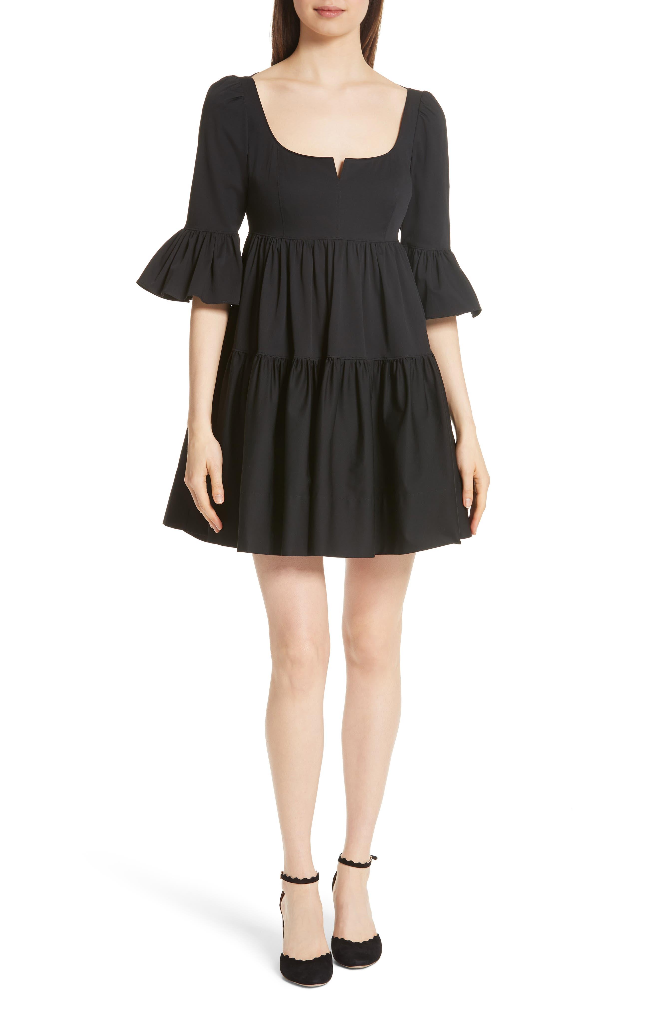 Anya Stretch Poplin Dress, Main, color, 001