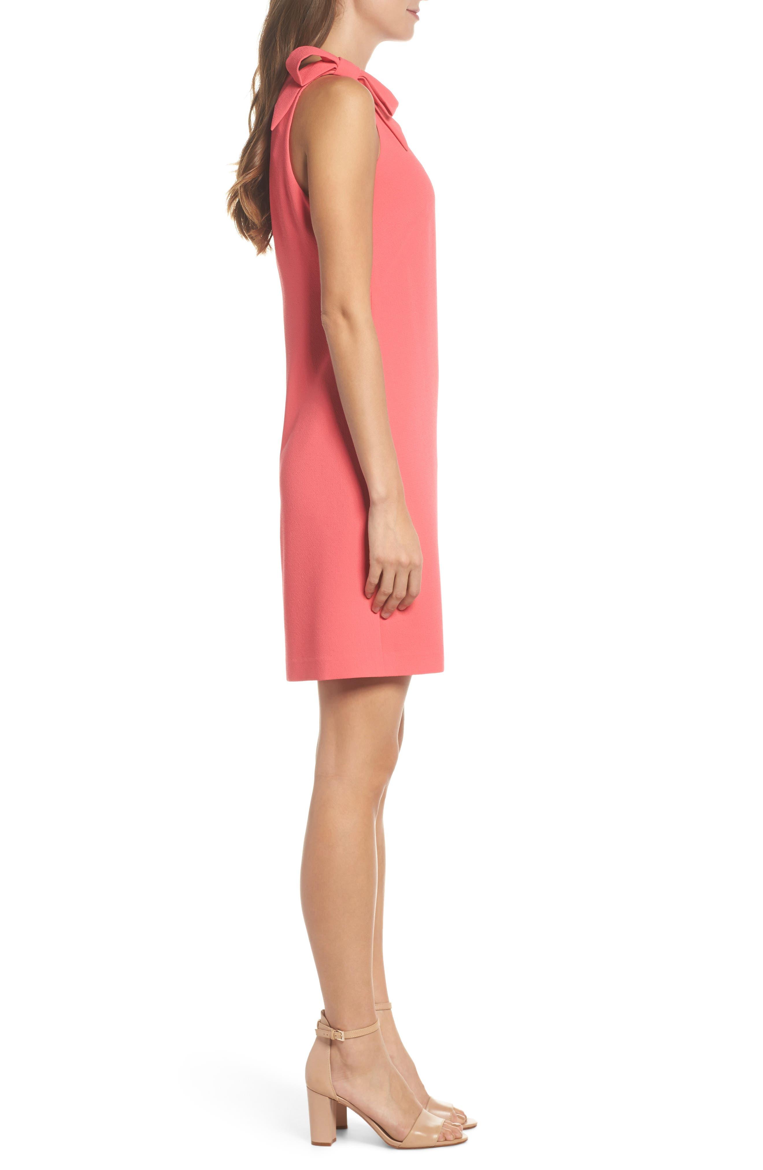 Bow Sheath Dress,                             Alternate thumbnail 6, color,