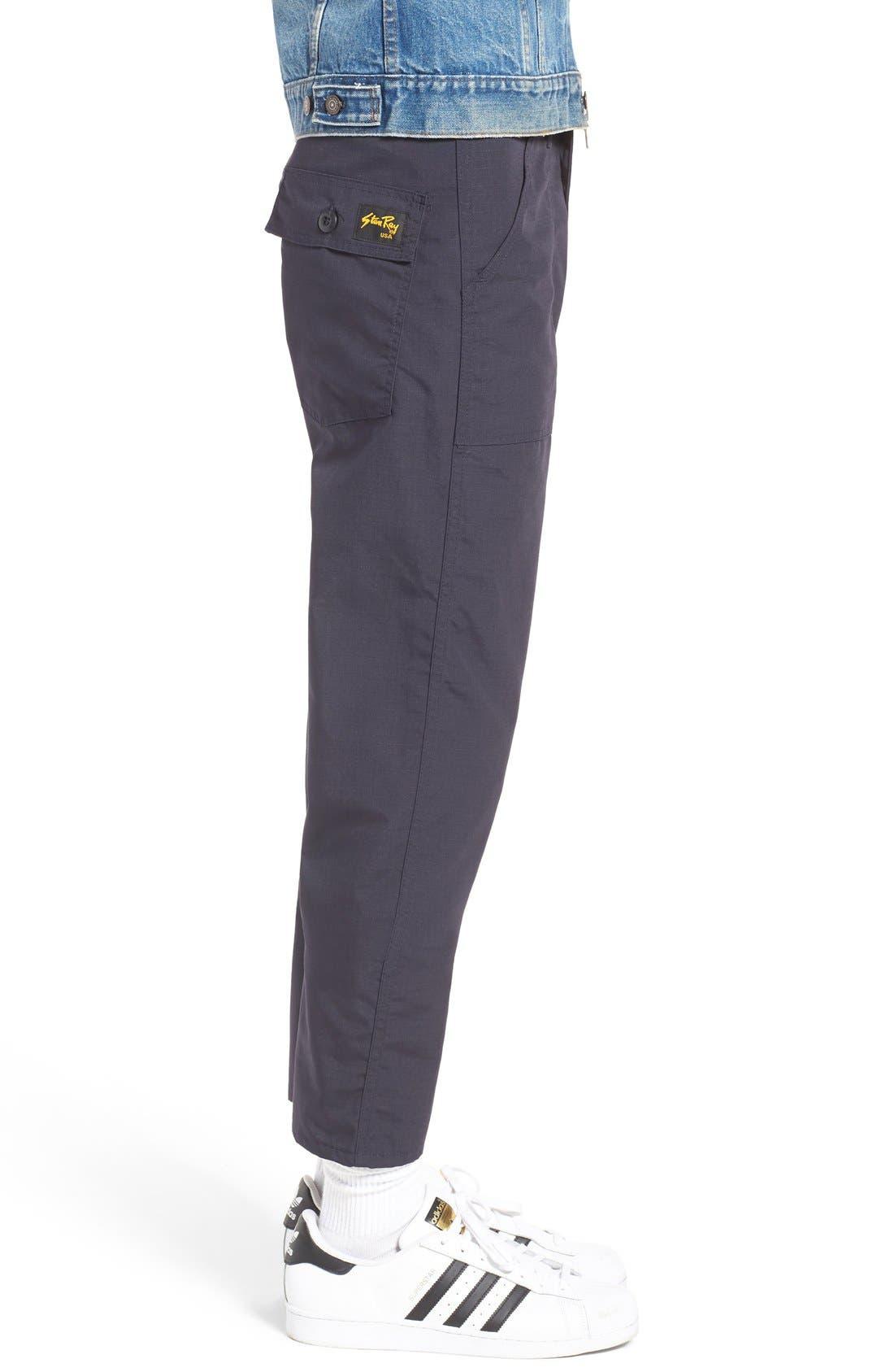Slim Fit Four Pocket Fatigue Pants,                             Alternate thumbnail 3, color,                             410