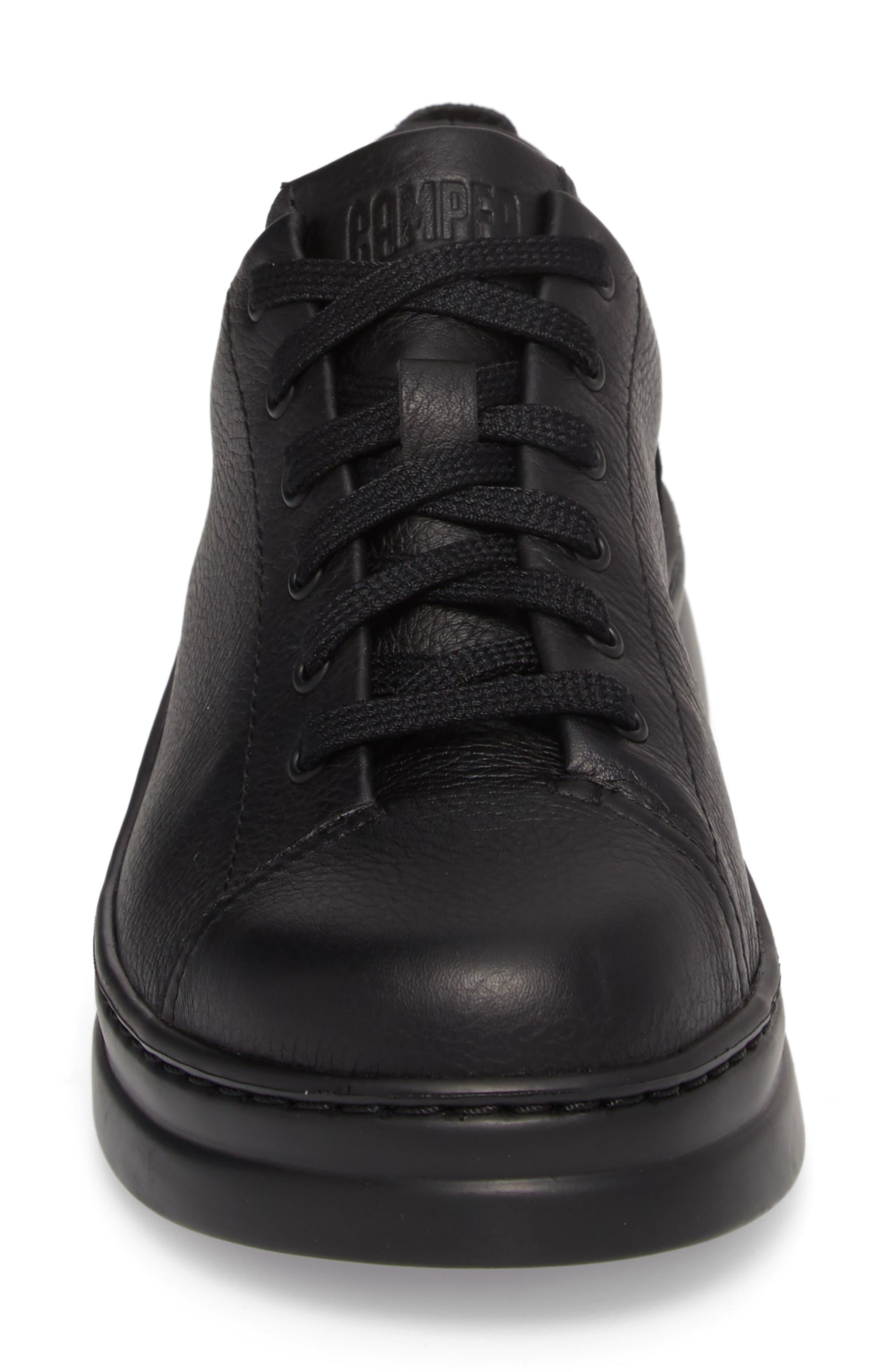 Runner Up Sneaker,                             Alternate thumbnail 4, color,                             BLACK LEATHER