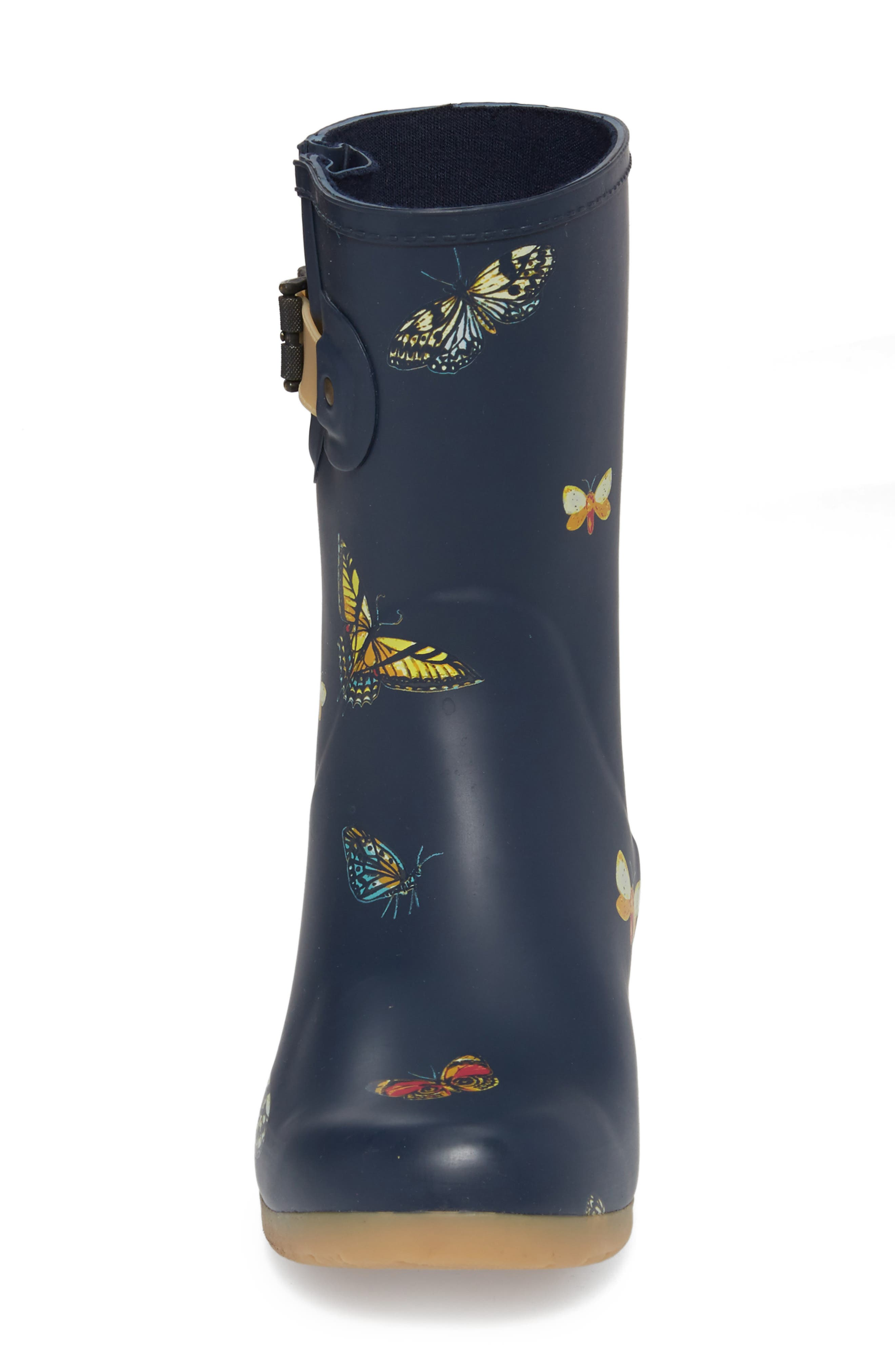 City Solid Mid Height Rain Boot,                             Alternate thumbnail 4, color,                             NAVY