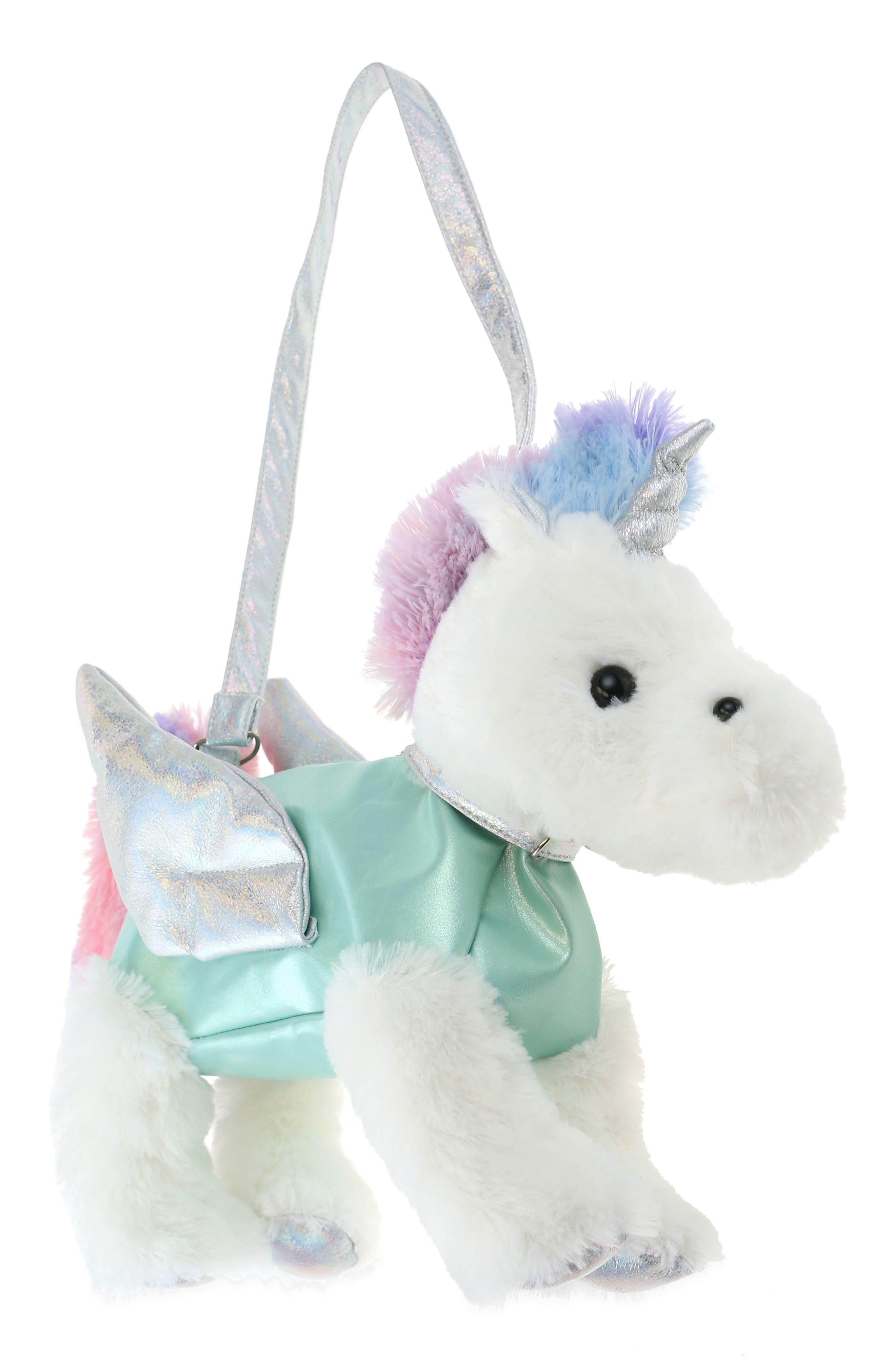 Pegasus Plush Bag,                         Main,                         color, MINT