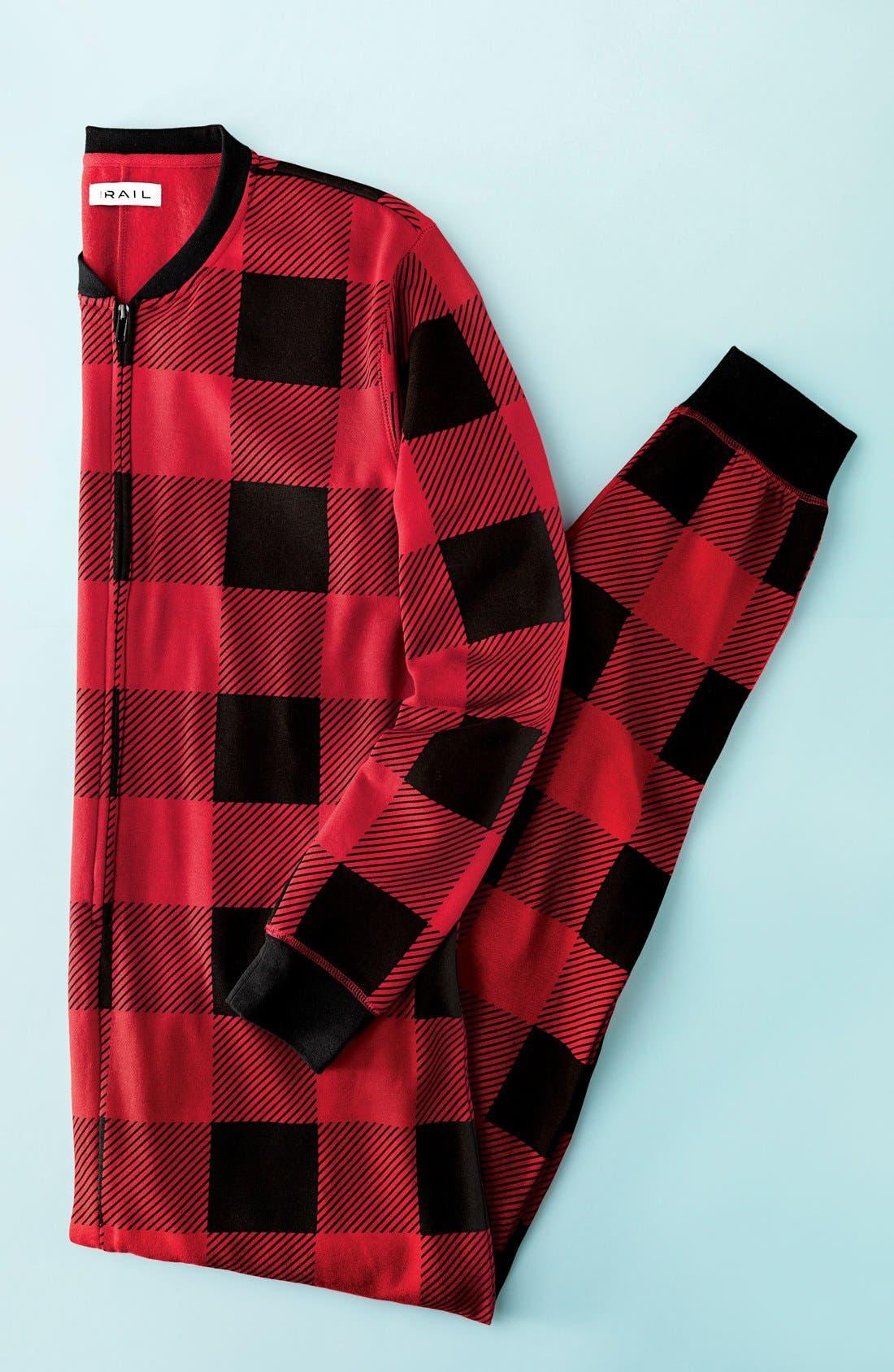 Fleece One-Piece Pajamas,                             Alternate thumbnail 7, color,                             040
