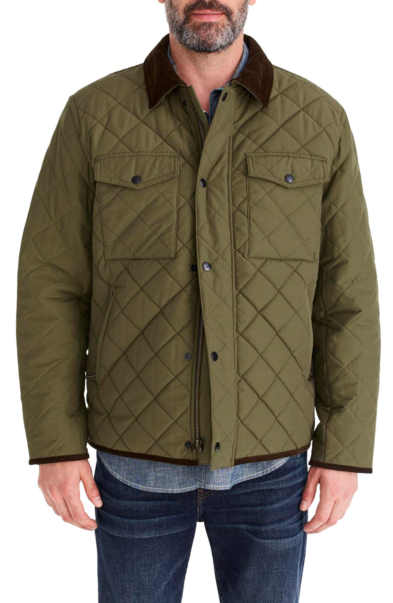 Sussex Quilted Jacket with Corduroy Collar,                             Main thumbnail 1, color,                             300