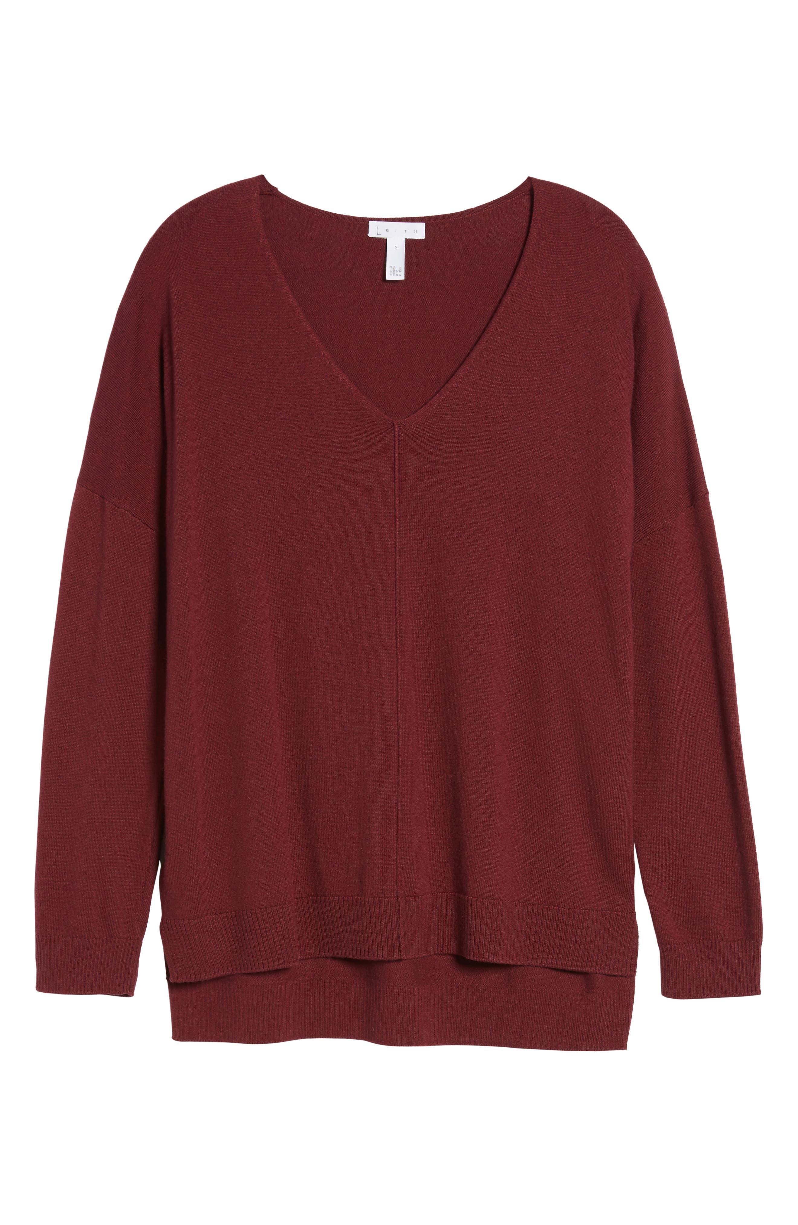 V-Neck Sweater,                             Alternate thumbnail 6, color,                             601