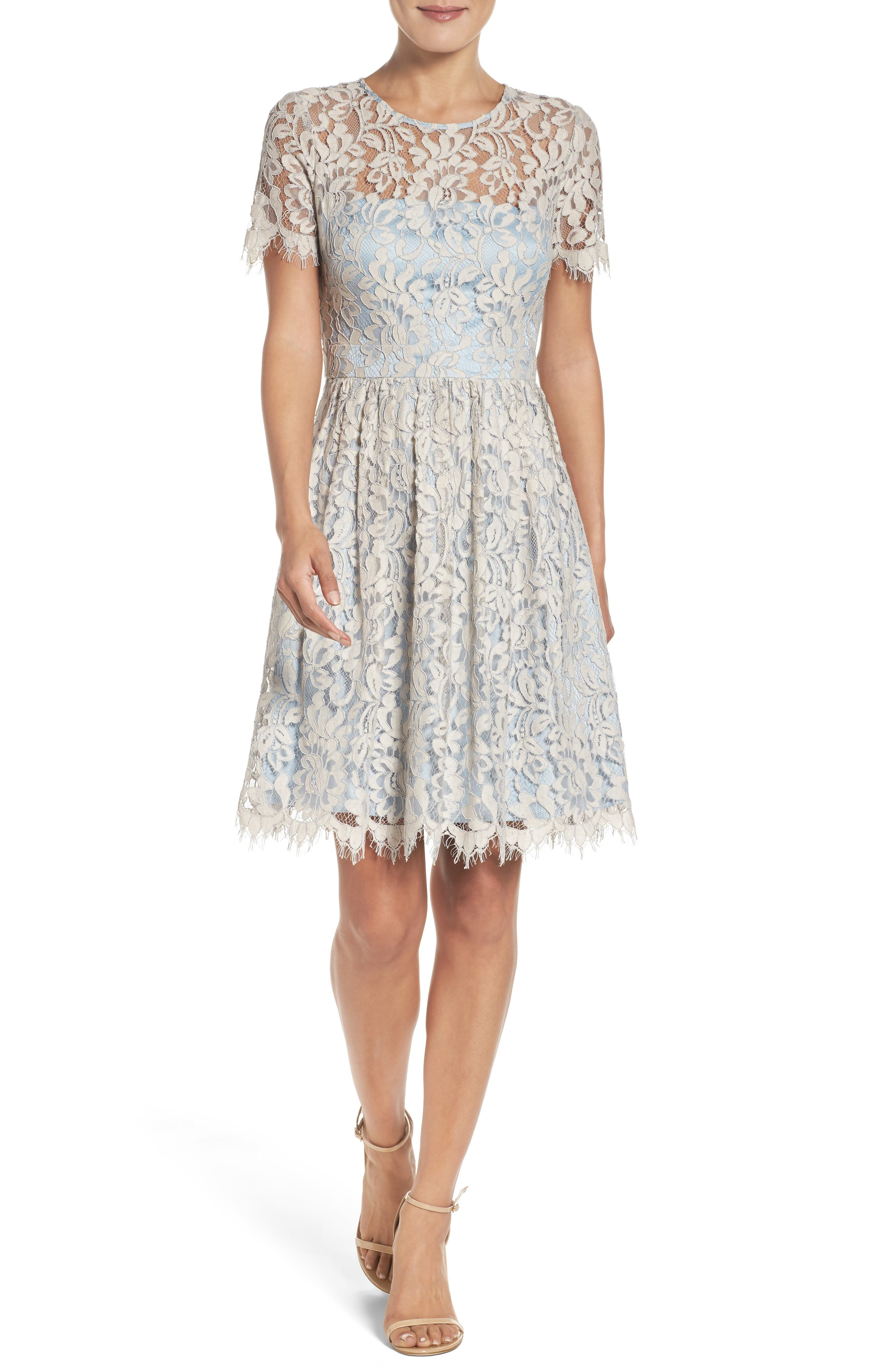 Fit & Flare Dress,                             Alternate thumbnail 5, color,                             451