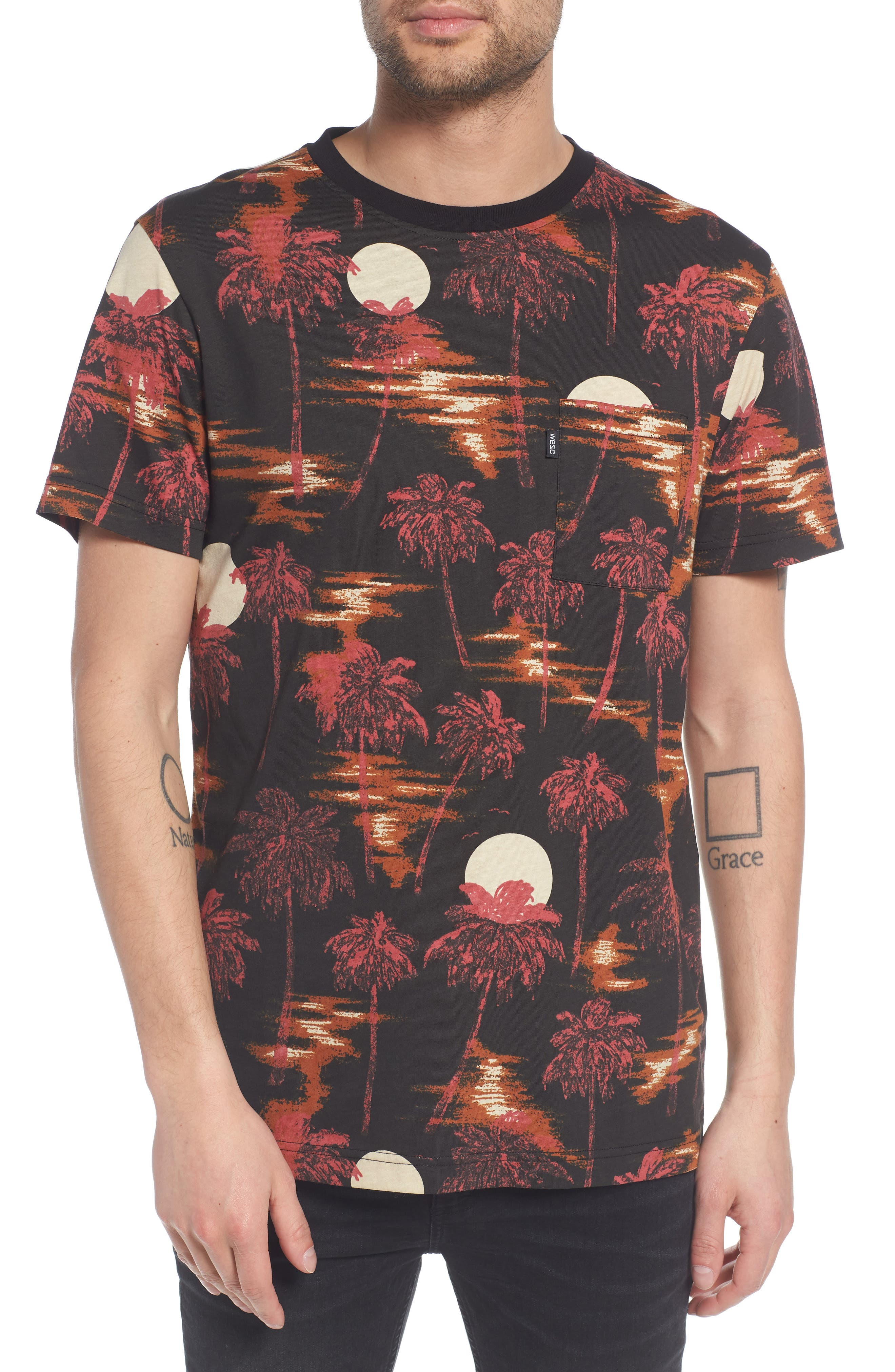 Maxwell Hawaii Print Graphic T-Shirt,                         Main,                         color, 001