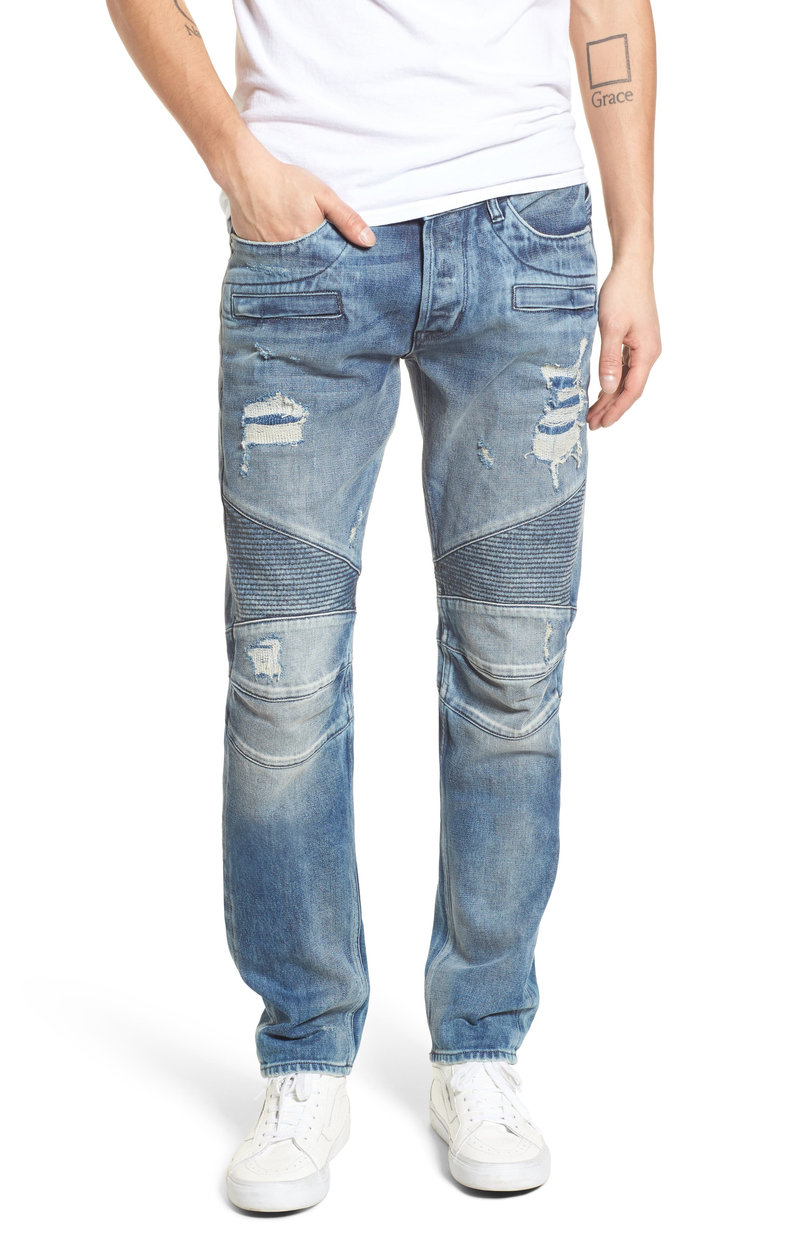 Blinder Biker Skinny Fit Jeans,                             Main thumbnail 1, color,                             CHOPPER