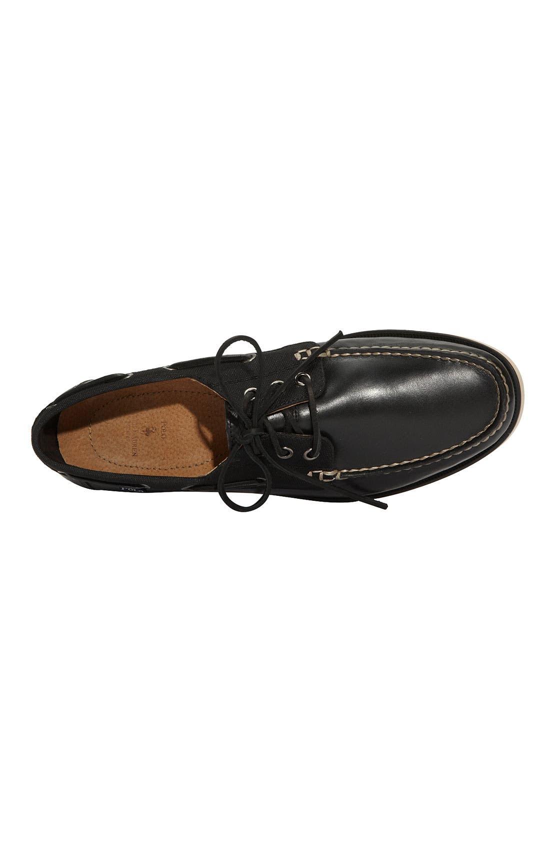POLO RALPH LAUREN,                             'Bienne' Boat Shoe,                             Alternate thumbnail 2, color,                             001