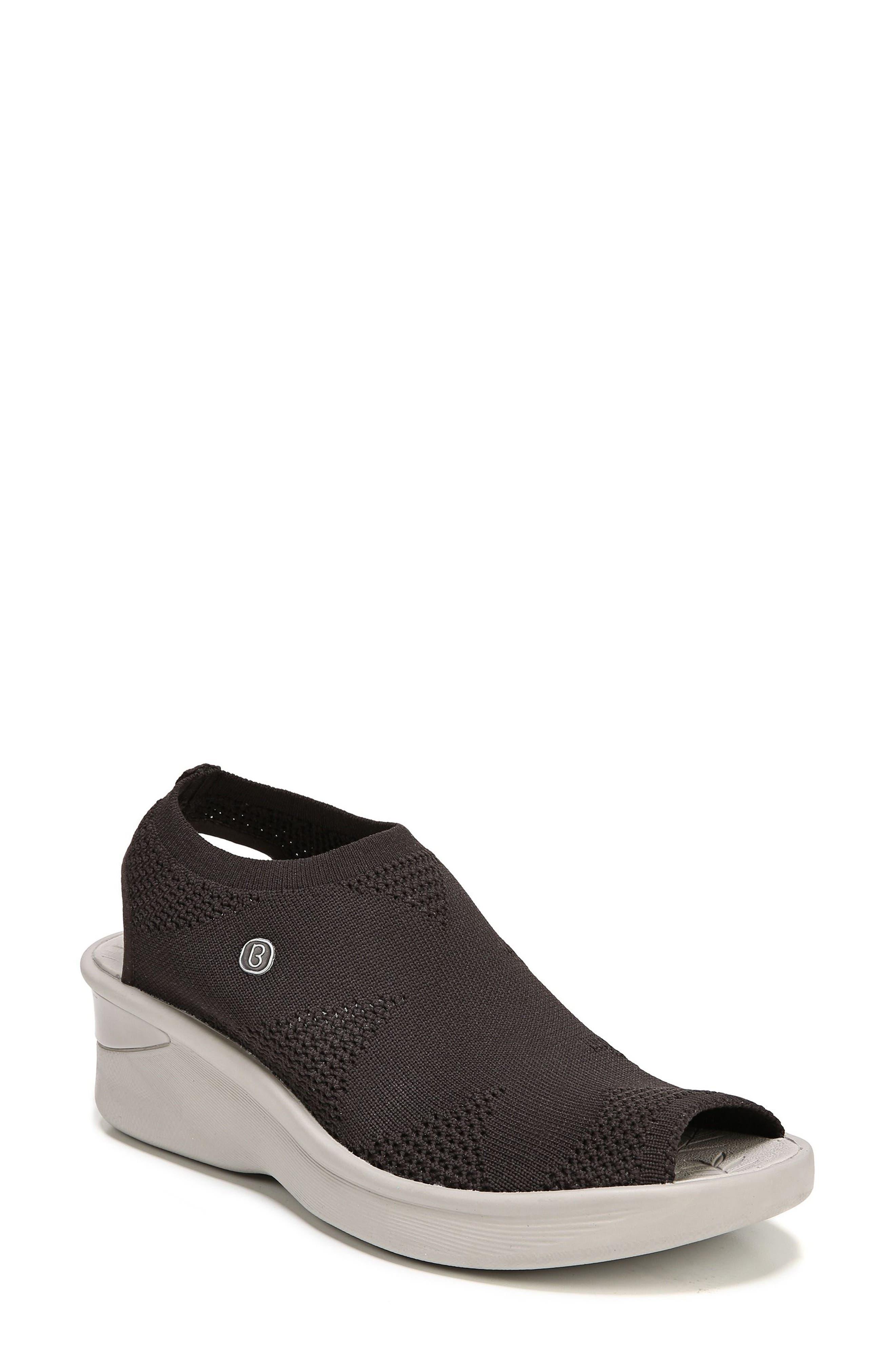 Secret Peep Toe Knit Sneaker,                             Main thumbnail 1, color,                             BROWN FABRIC